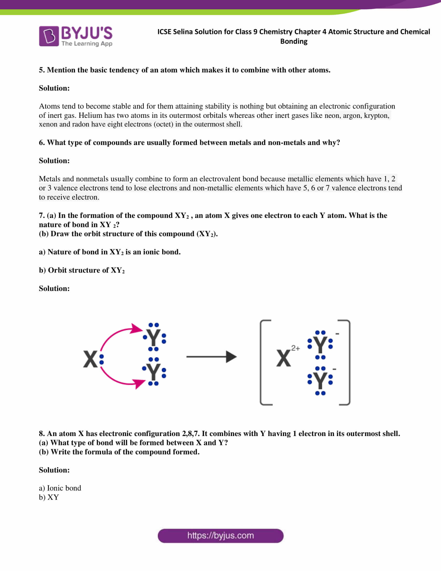 ICSE Selina Solution for class 9 Chemistry Chapter 4 Ex part 20