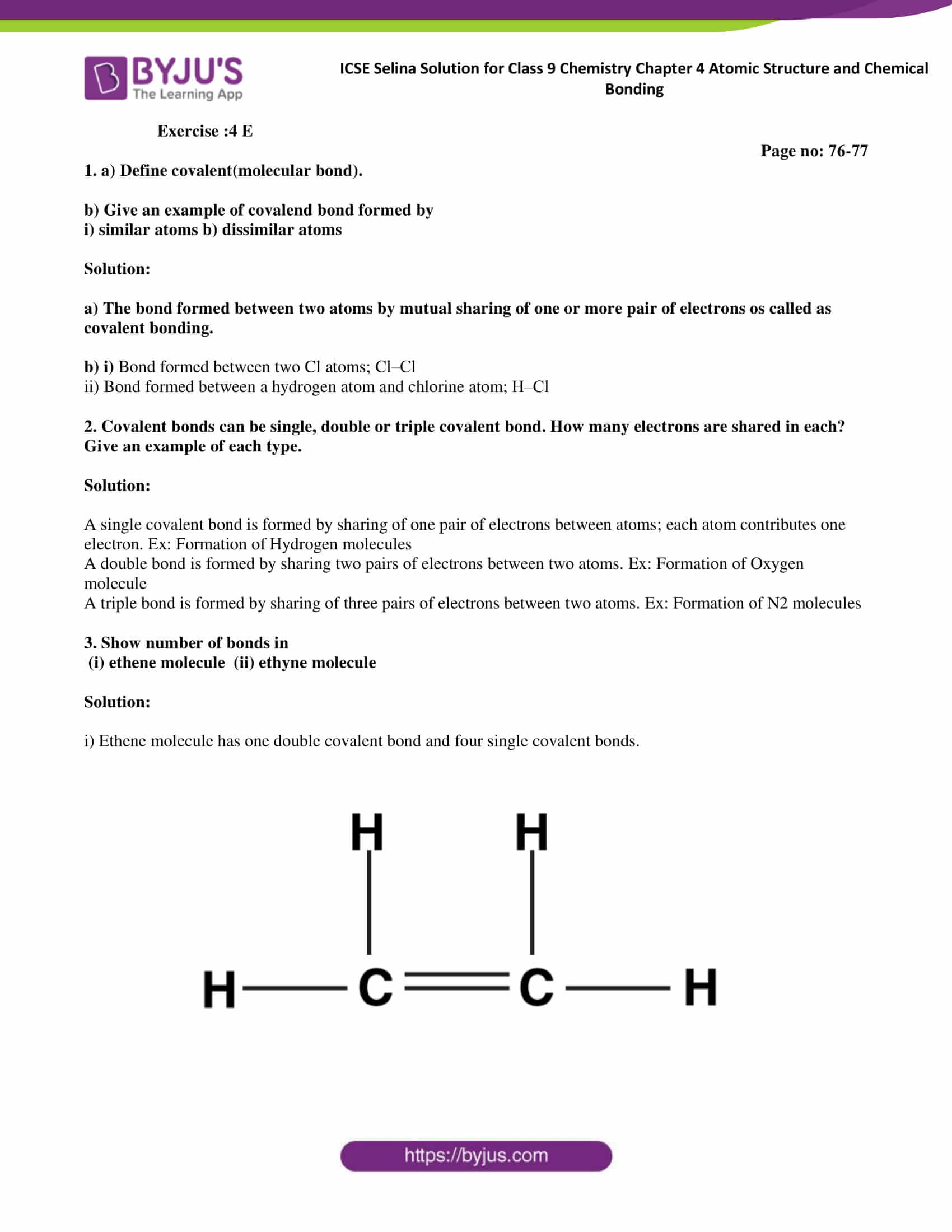 ICSE Selina Solution for class 9 Chemistry Chapter 4 Ex part 24