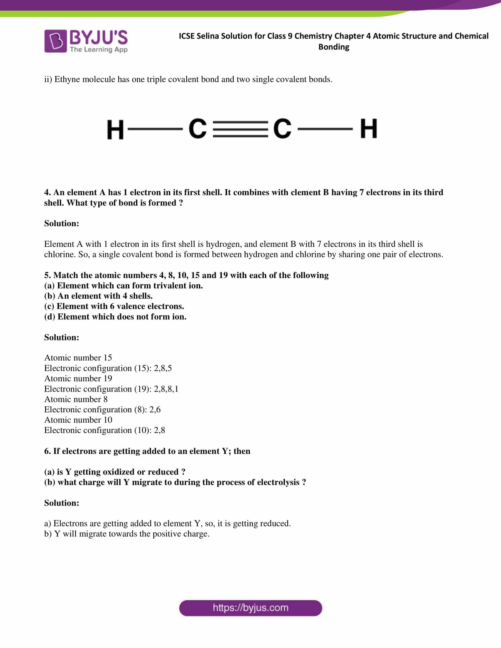 ICSE Selina Solution for class 9 Chemistry Chapter 4 Ex part 25