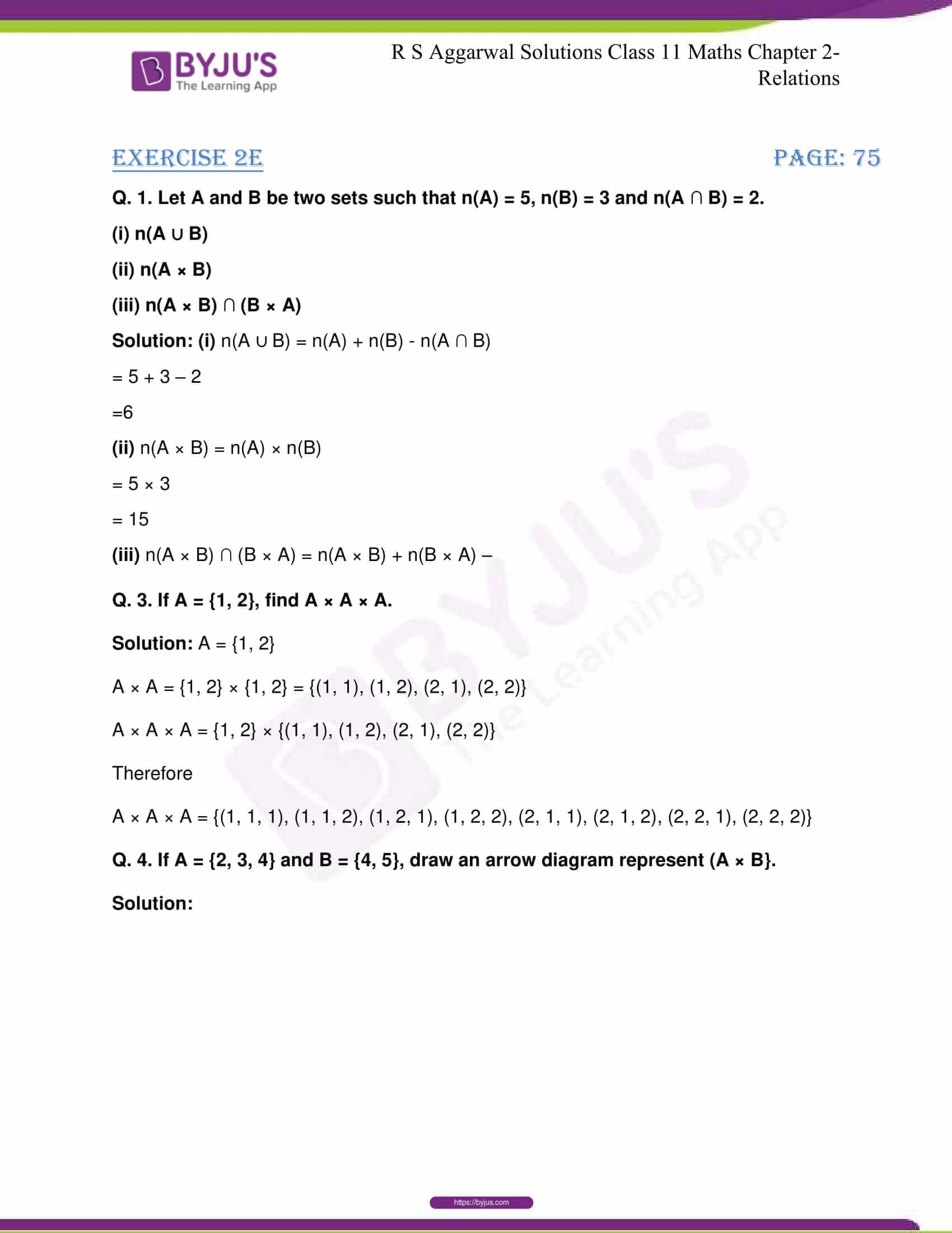 RS Aggarwal Sol Class 11 Maths Chapter 2