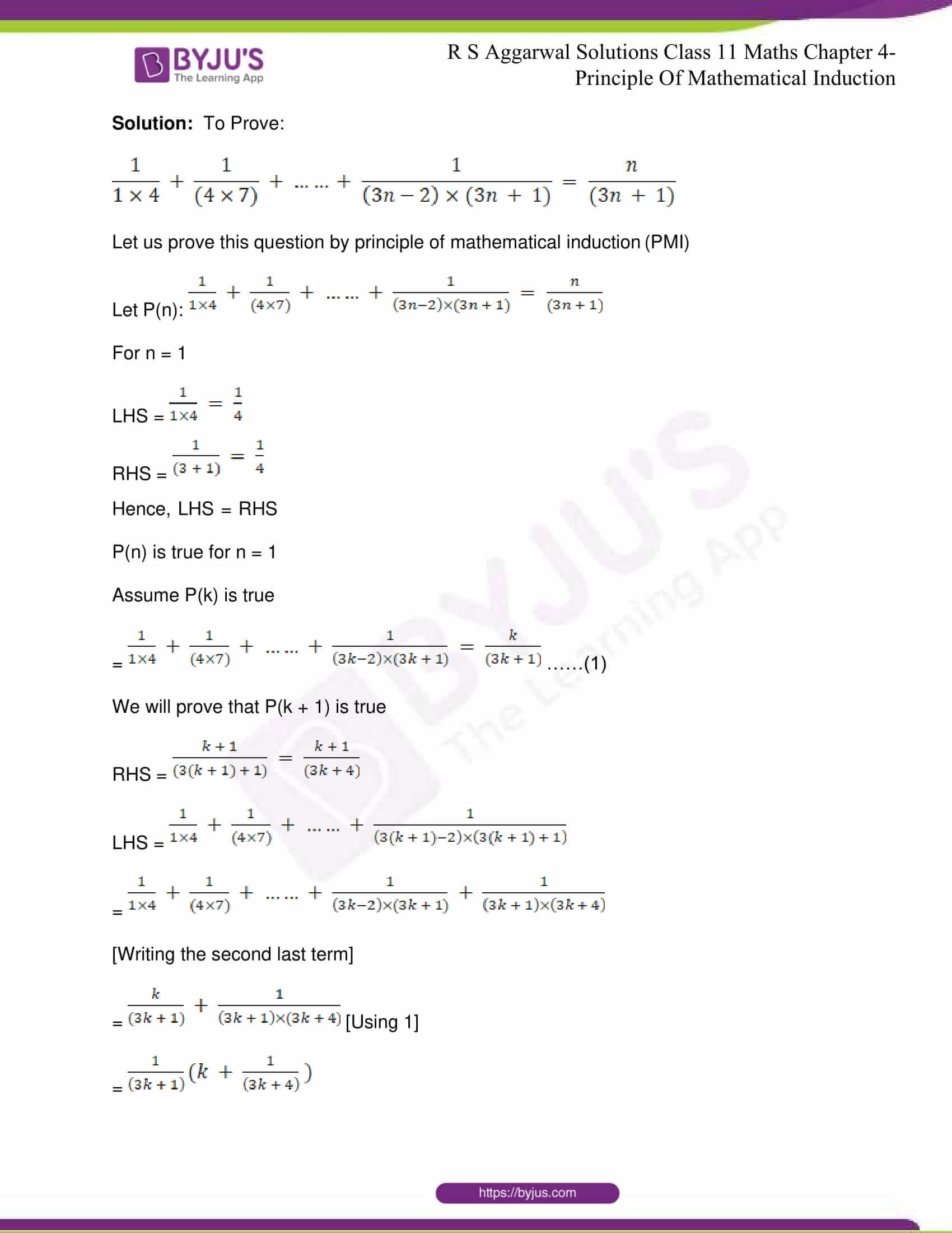 RS Aggarwal Sol Class 11 Maths Chapter 4