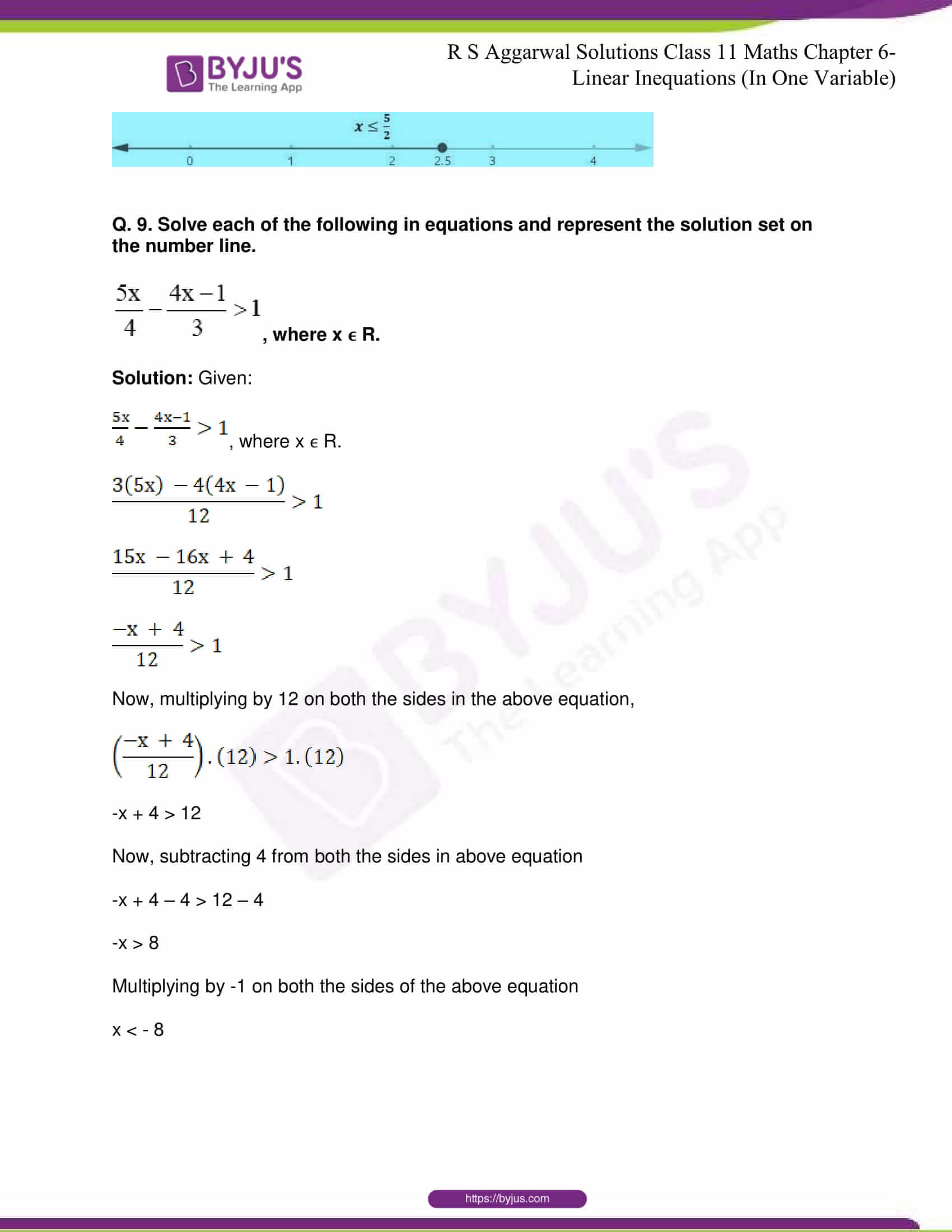RS Aggarwal Sol Class 11 Maths Chapter 6