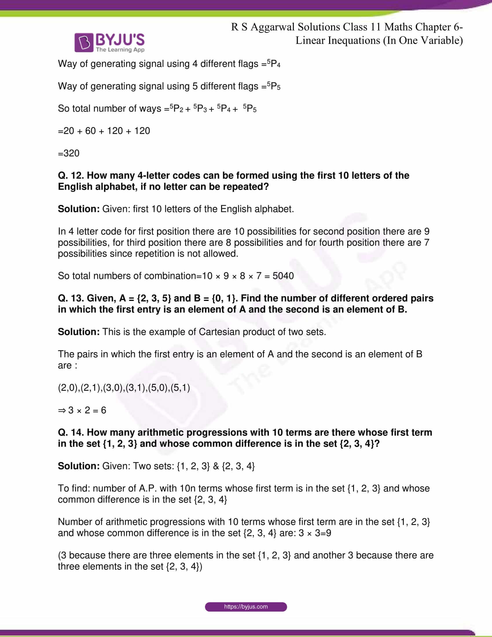 RS Aggarwal Sol Class 11 Maths Chapter 8