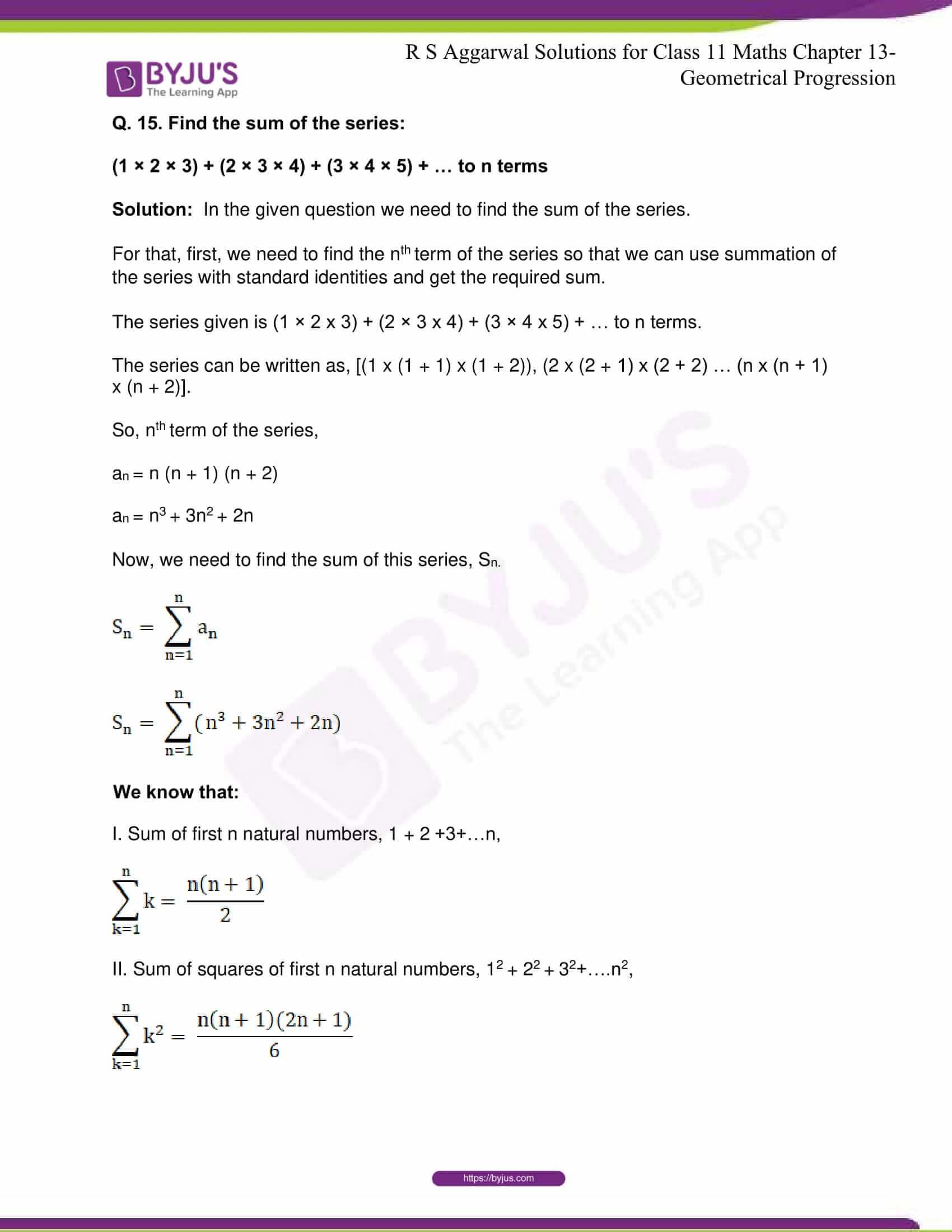 RS Aggarwal Sol Class 11 Maths Chapter 13