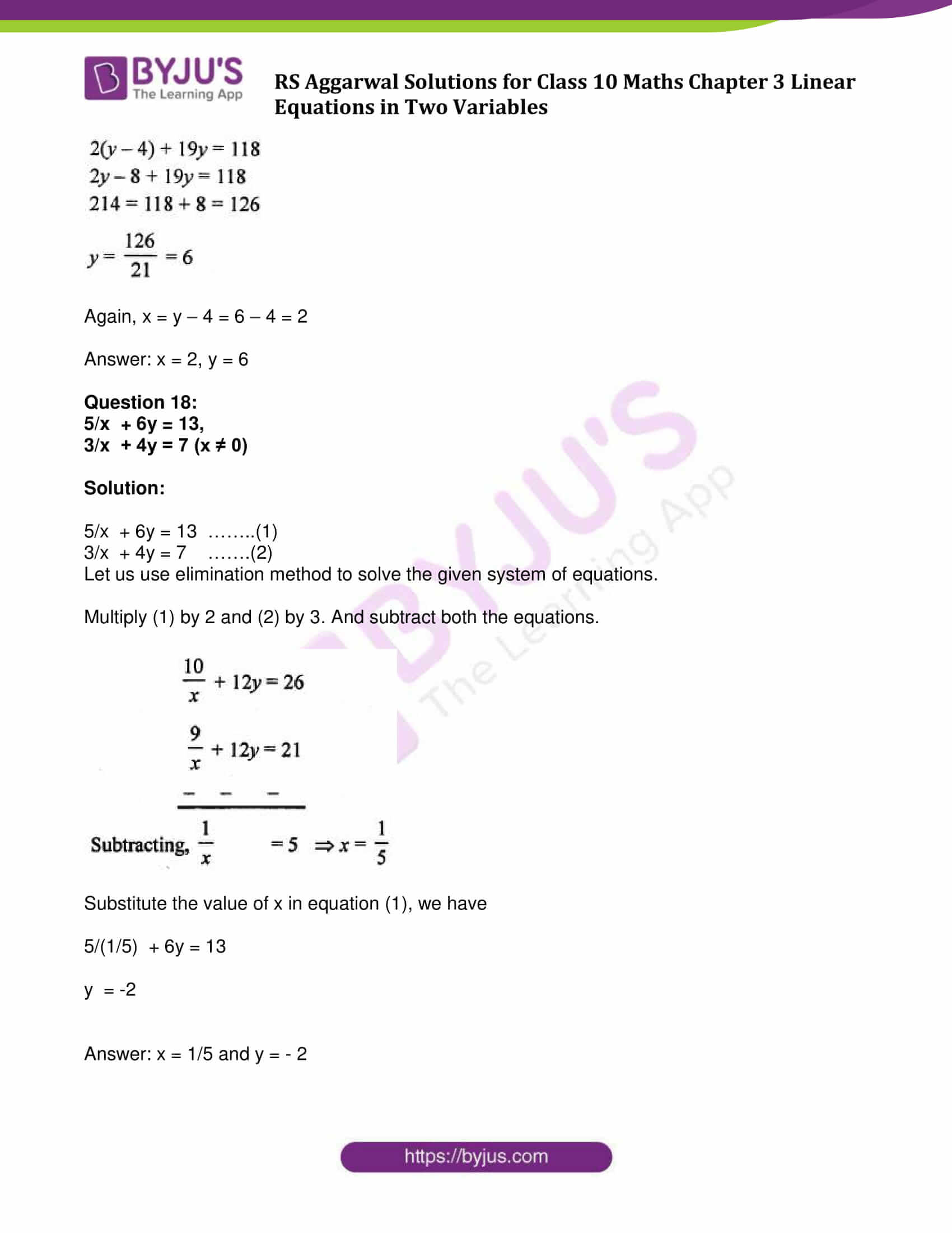 rs aggarwal sol class 10 maths cht 3