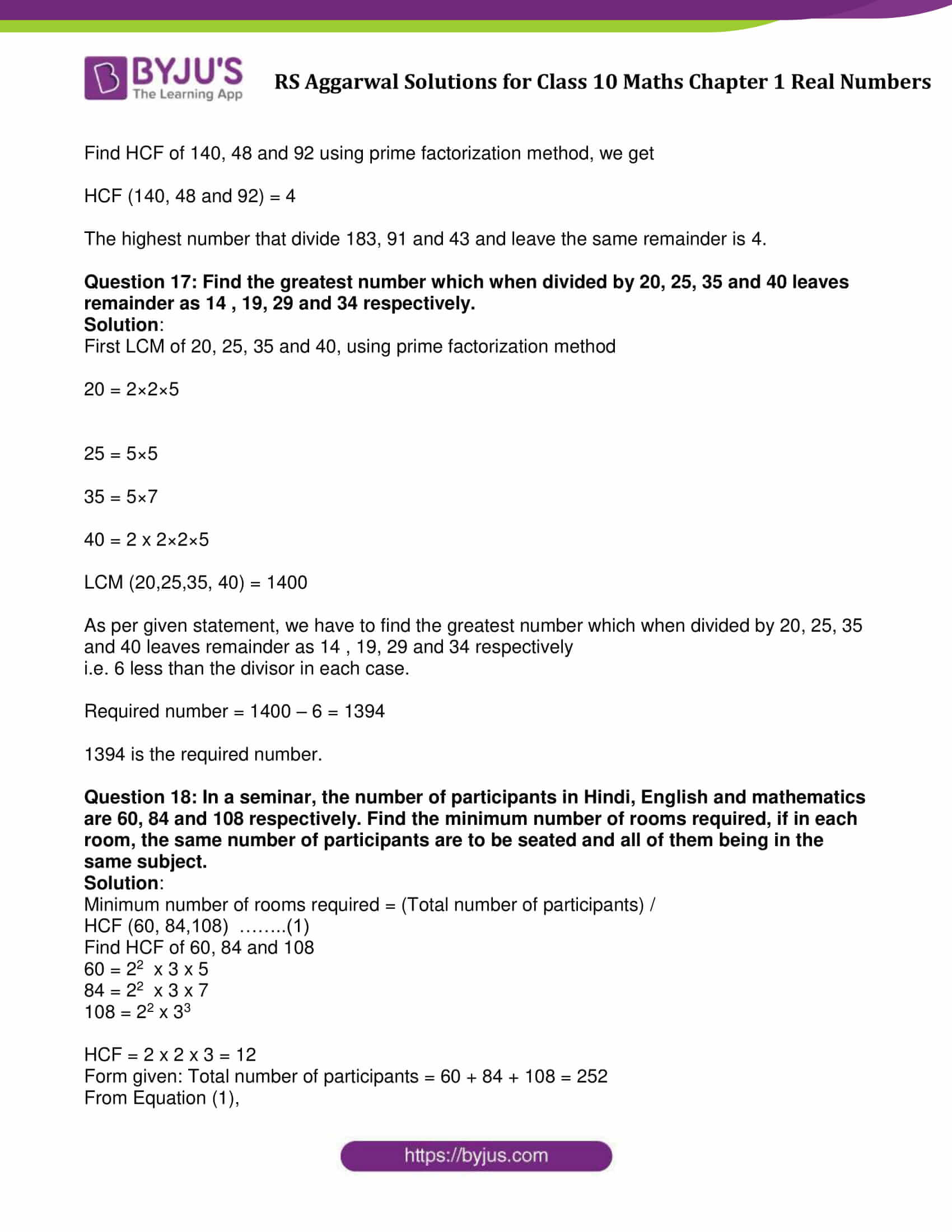 Rs Aggarwal Solution Class 10 Maths Chapter 1 Ex 1B