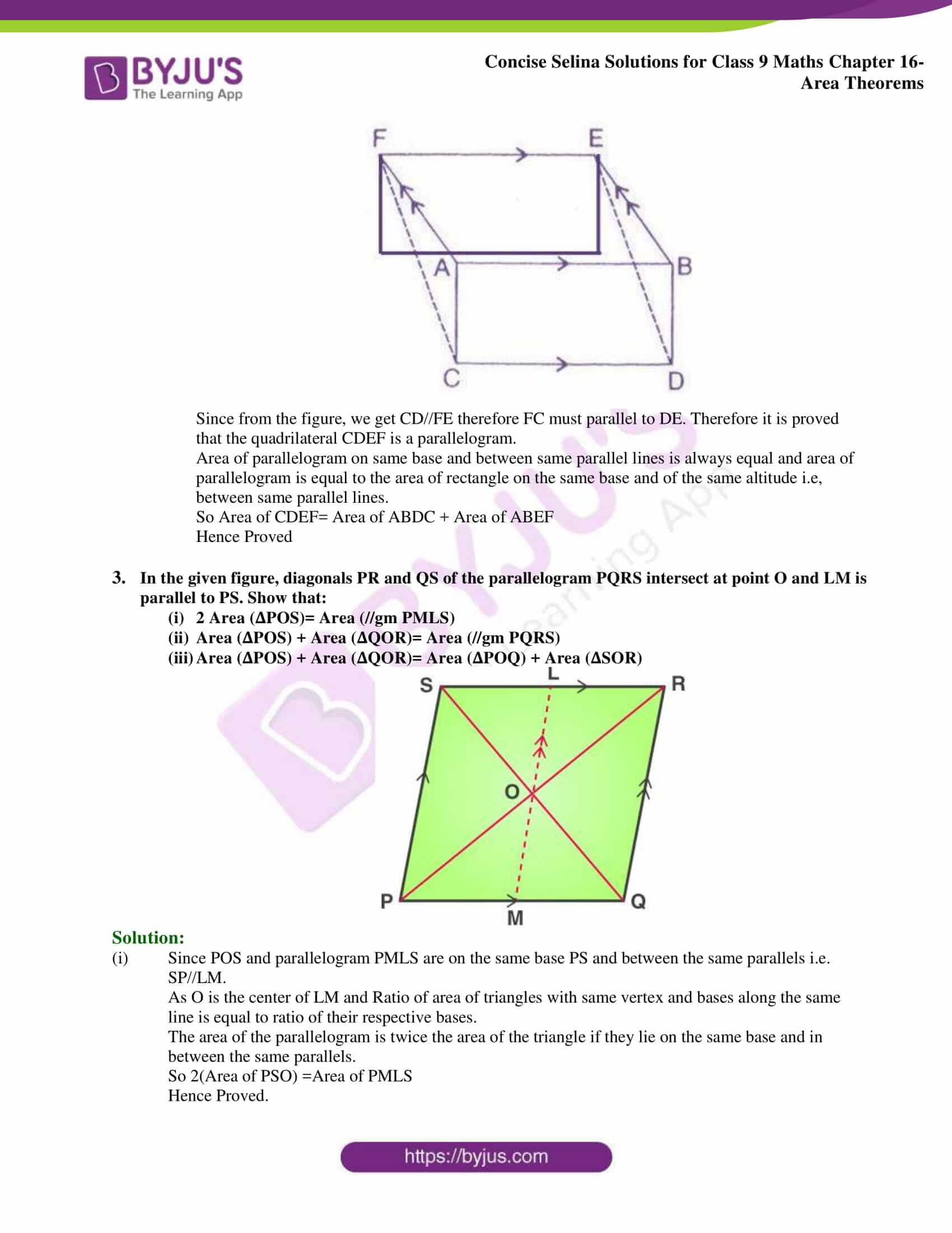 Concise Selina Solutions Class 9 Maths Chapter 16 Area Theorems part 02