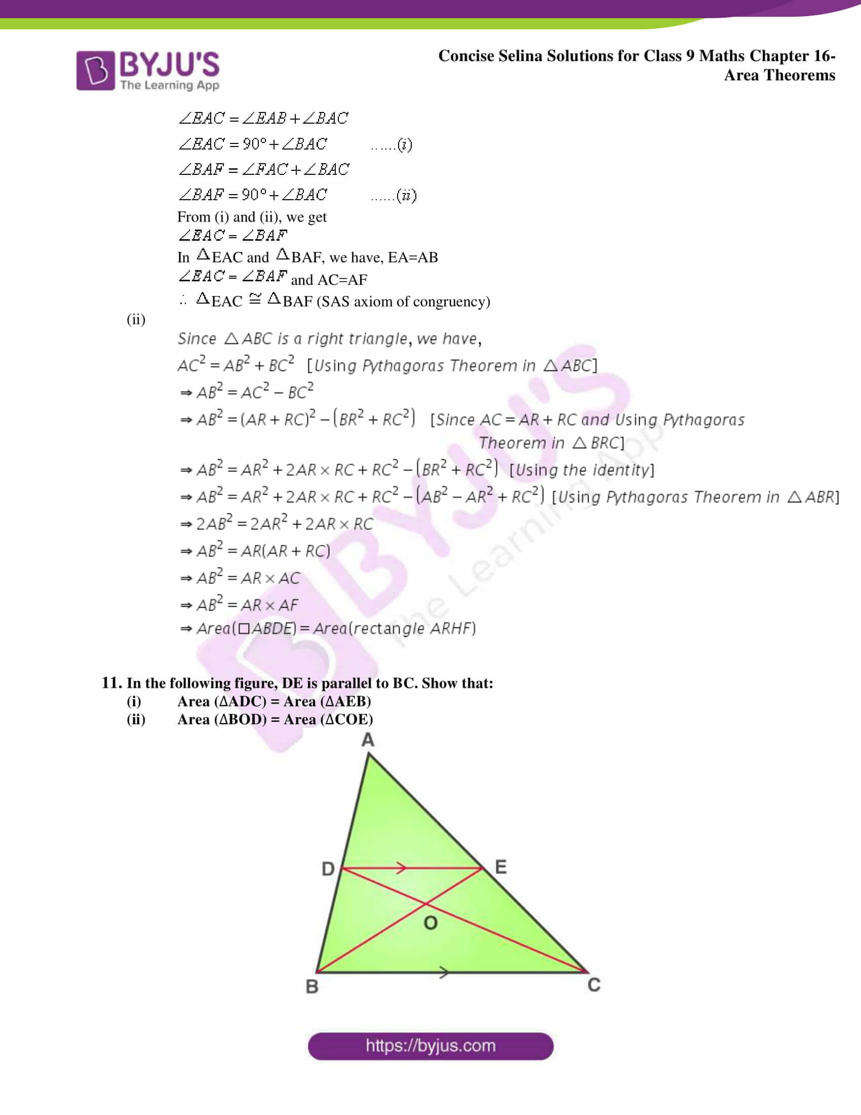Concise Selina Solutions Class 9 Maths Chapter 16 Area Theorems part 09