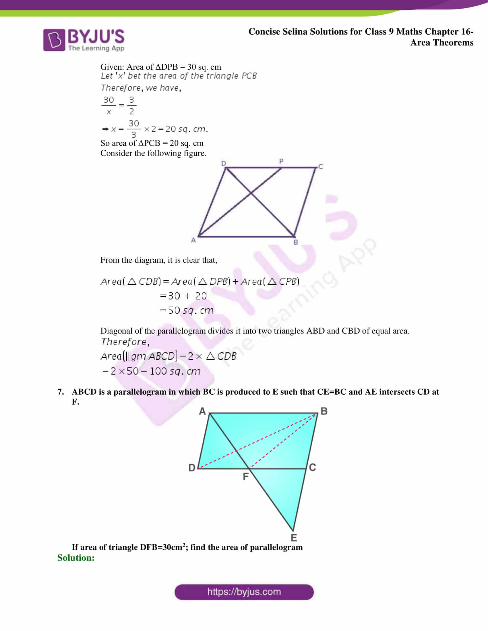Concise Selina Solutions Class 9 Maths Chapter 16 Area Theorems part 20
