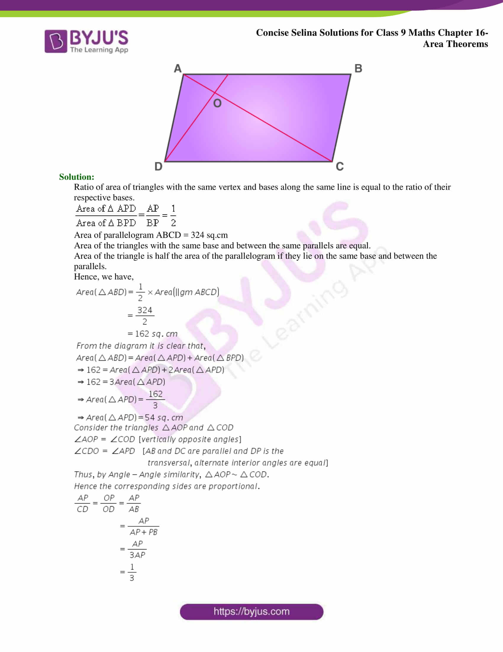 Concise Selina Solutions Class 9 Maths Chapter 16 Area Theorems part 24