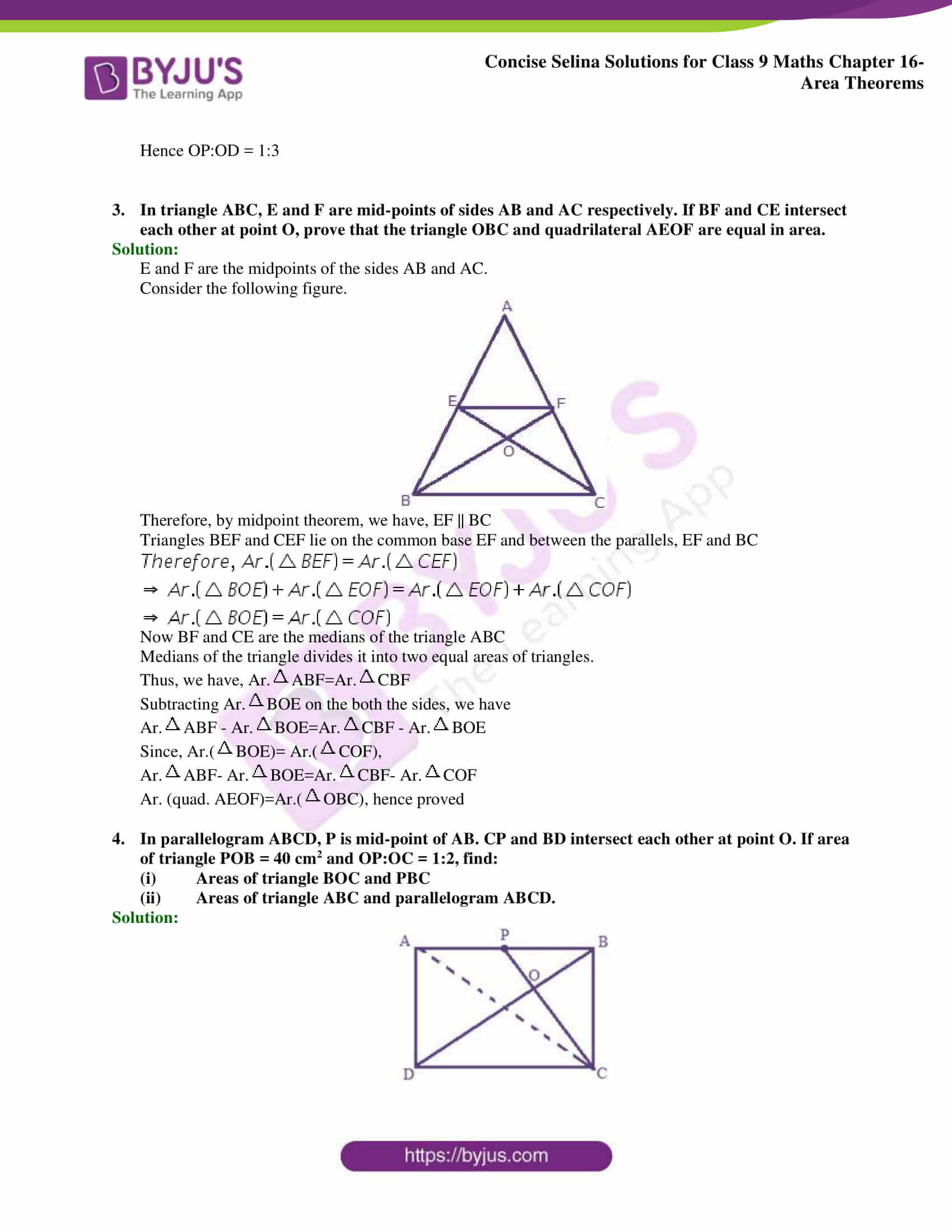 Concise Selina Solutions Class 9 Maths Chapter 16 Area Theorems part 25