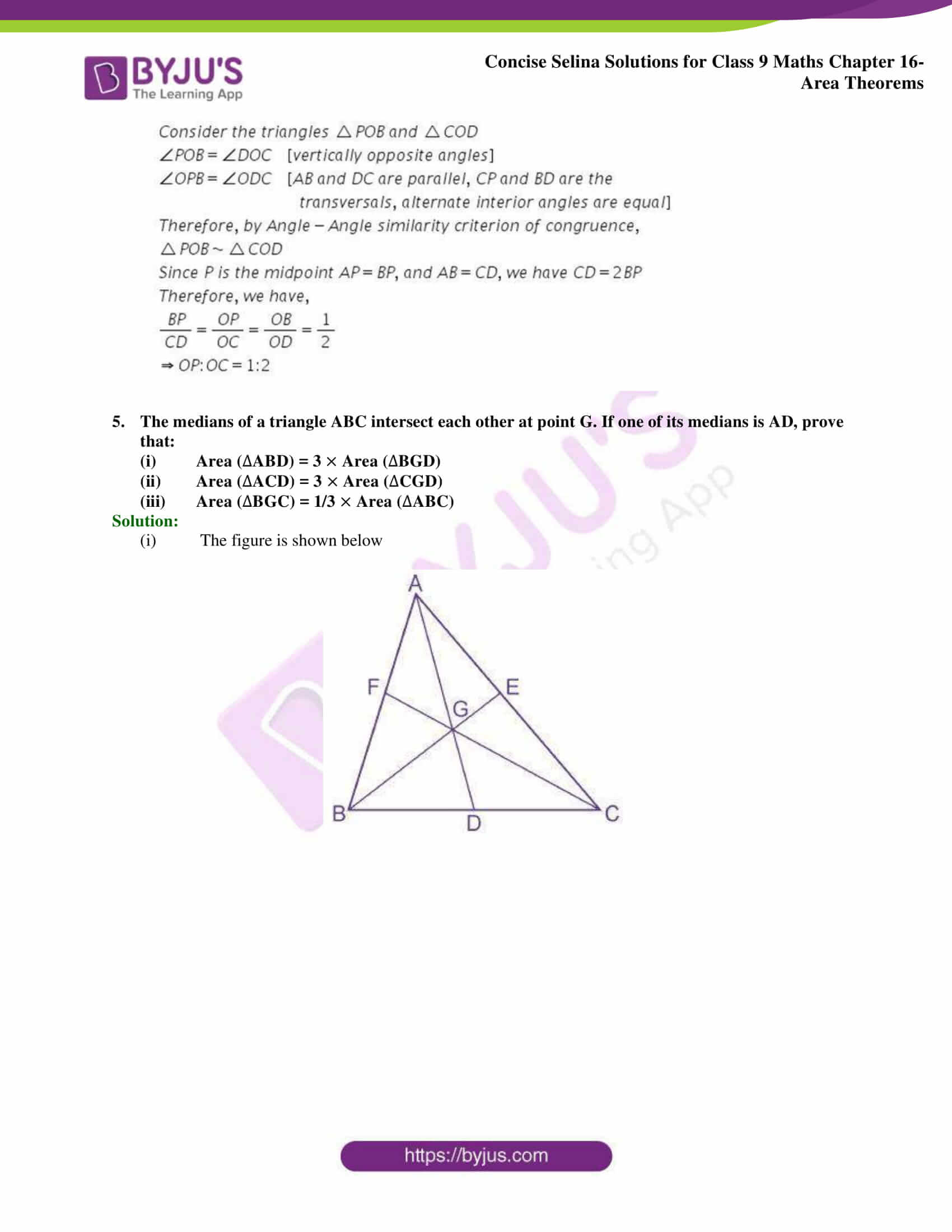 Concise Selina Solutions Class 9 Maths Chapter 16 Area Theorems part 26