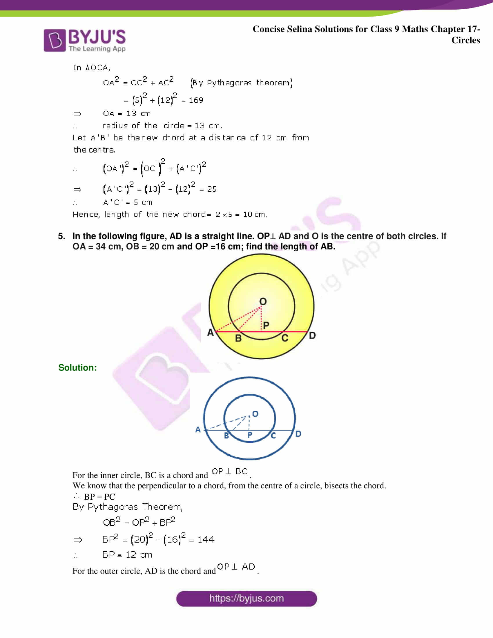 Concise Selina Solutions Class 9 Maths Chapter 17 Circles part 03