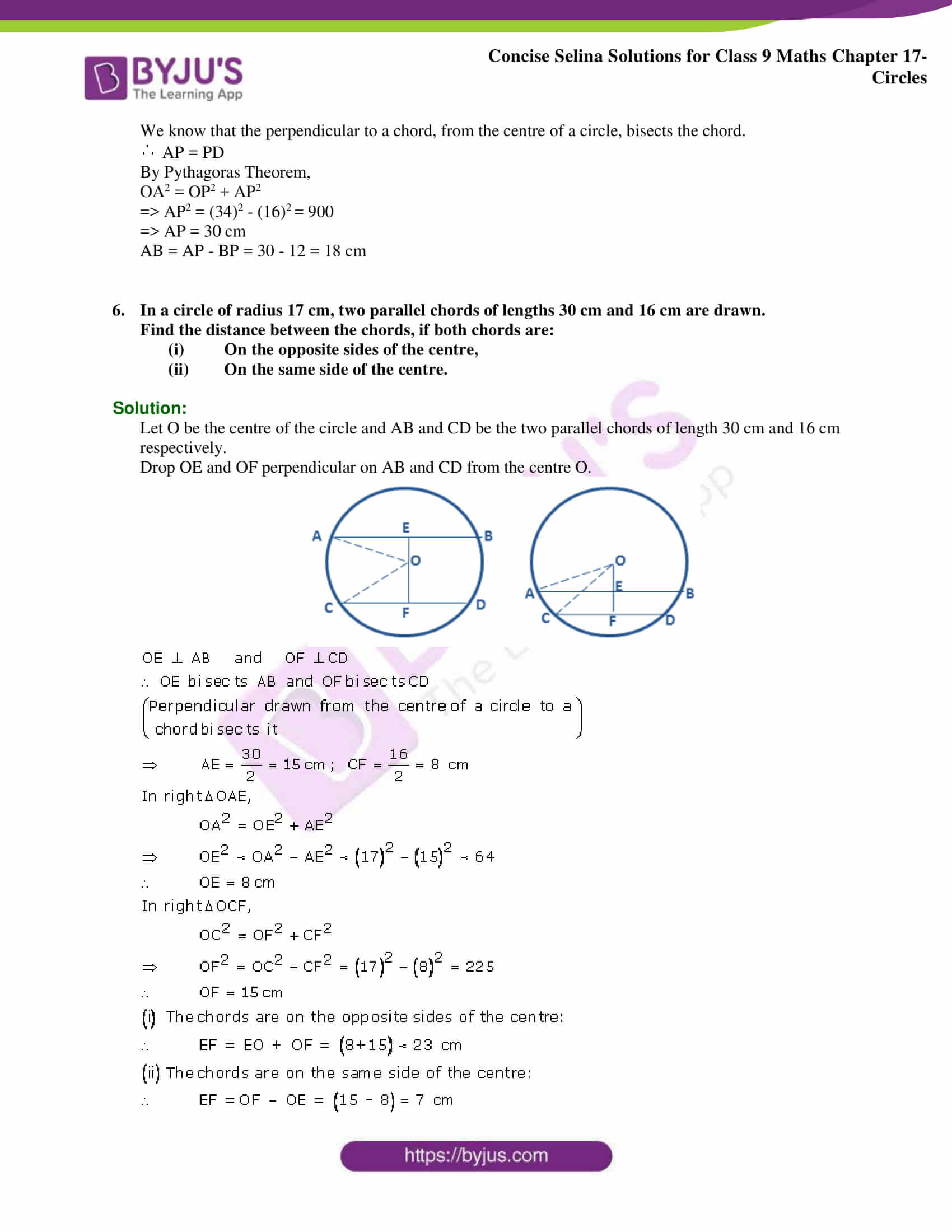 Concise Selina Solutions Class 9 Maths Chapter 17 Circles part 04