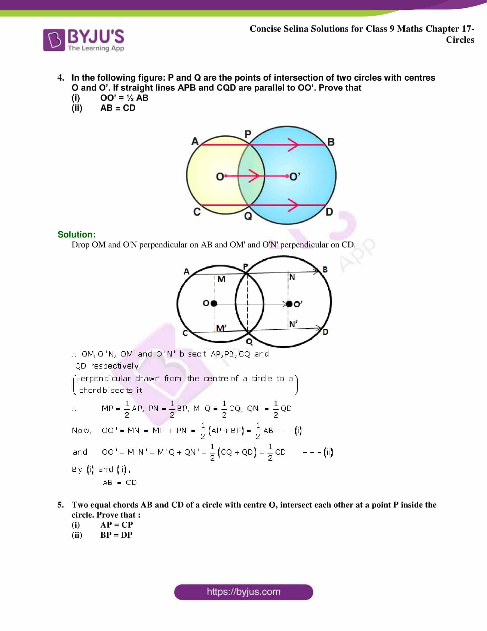 Concise Selina Solutions Class 9 Maths Chapter 17 Circles part 12