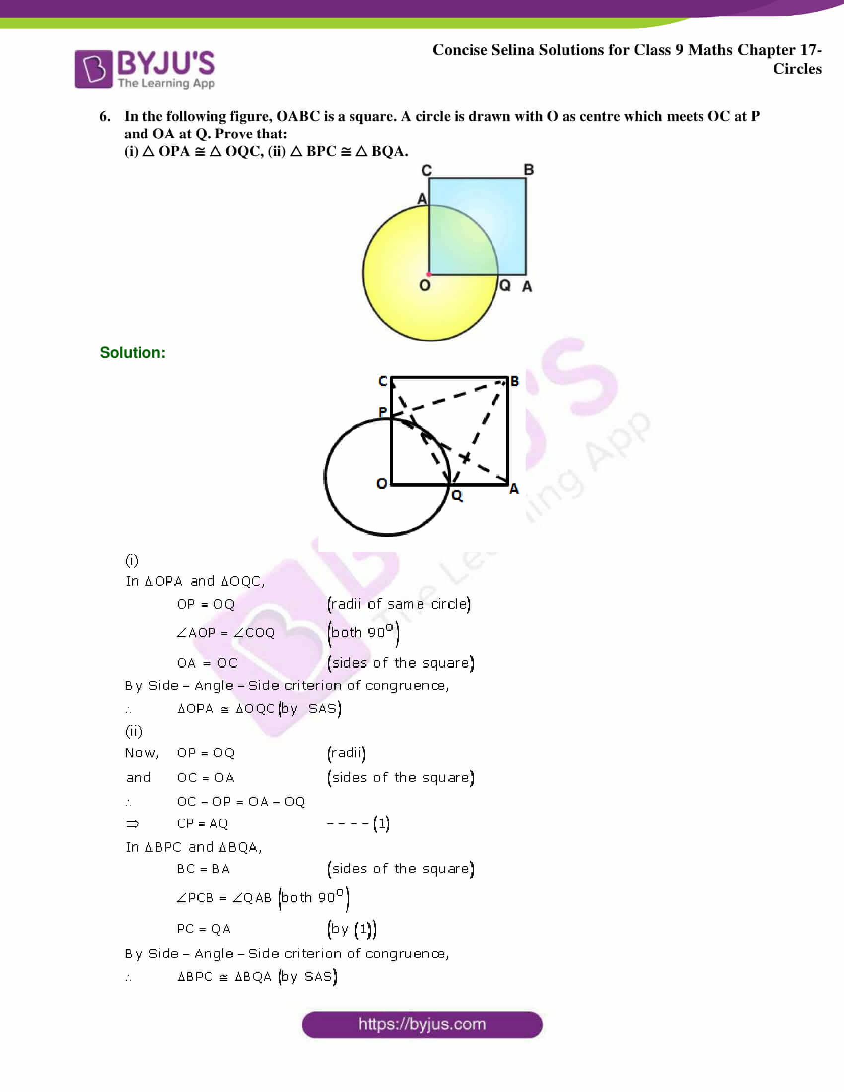 Concise Selina Solutions Class 9 Maths Chapter 17 Circles part 14
