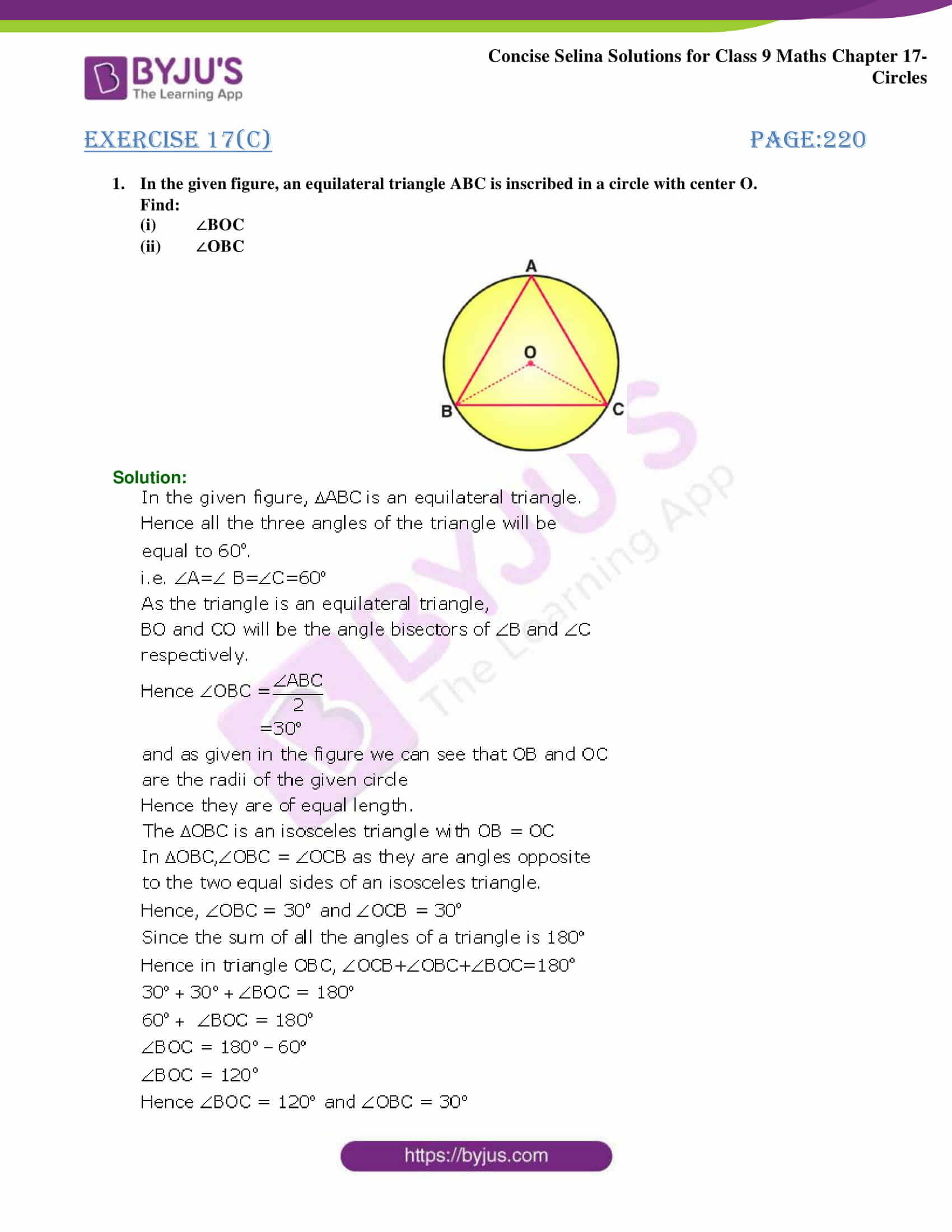 Concise Selina Solutions Class 9 Maths Chapter 17 Circles part 18