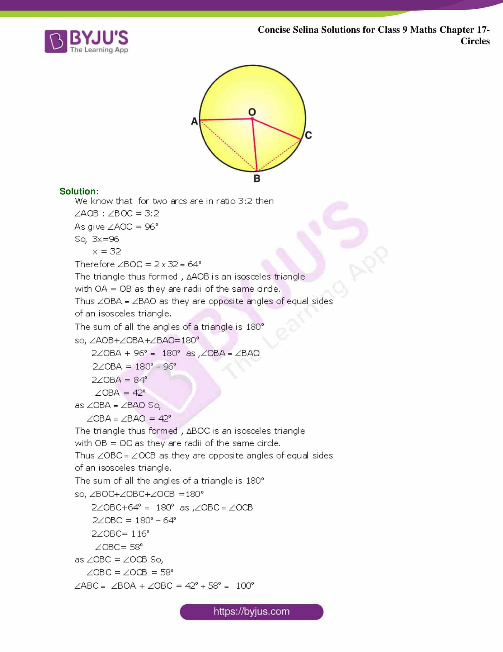 Concise Selina Solutions Class 9 Maths Chapter 17 Circles part 24