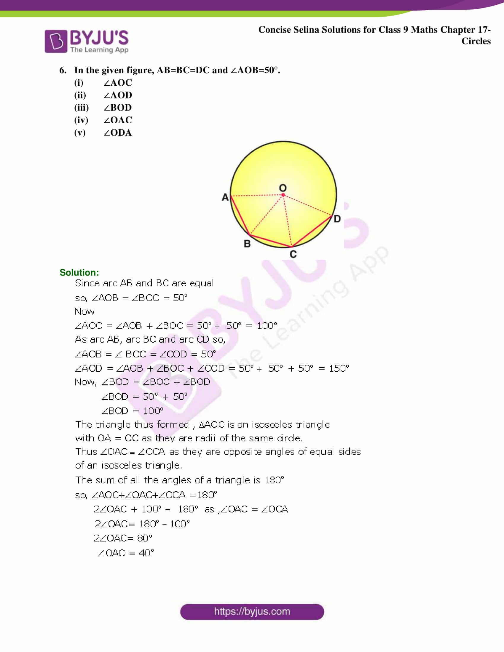 Concise Selina Solutions Class 9 Maths Chapter 17 Circles part 25