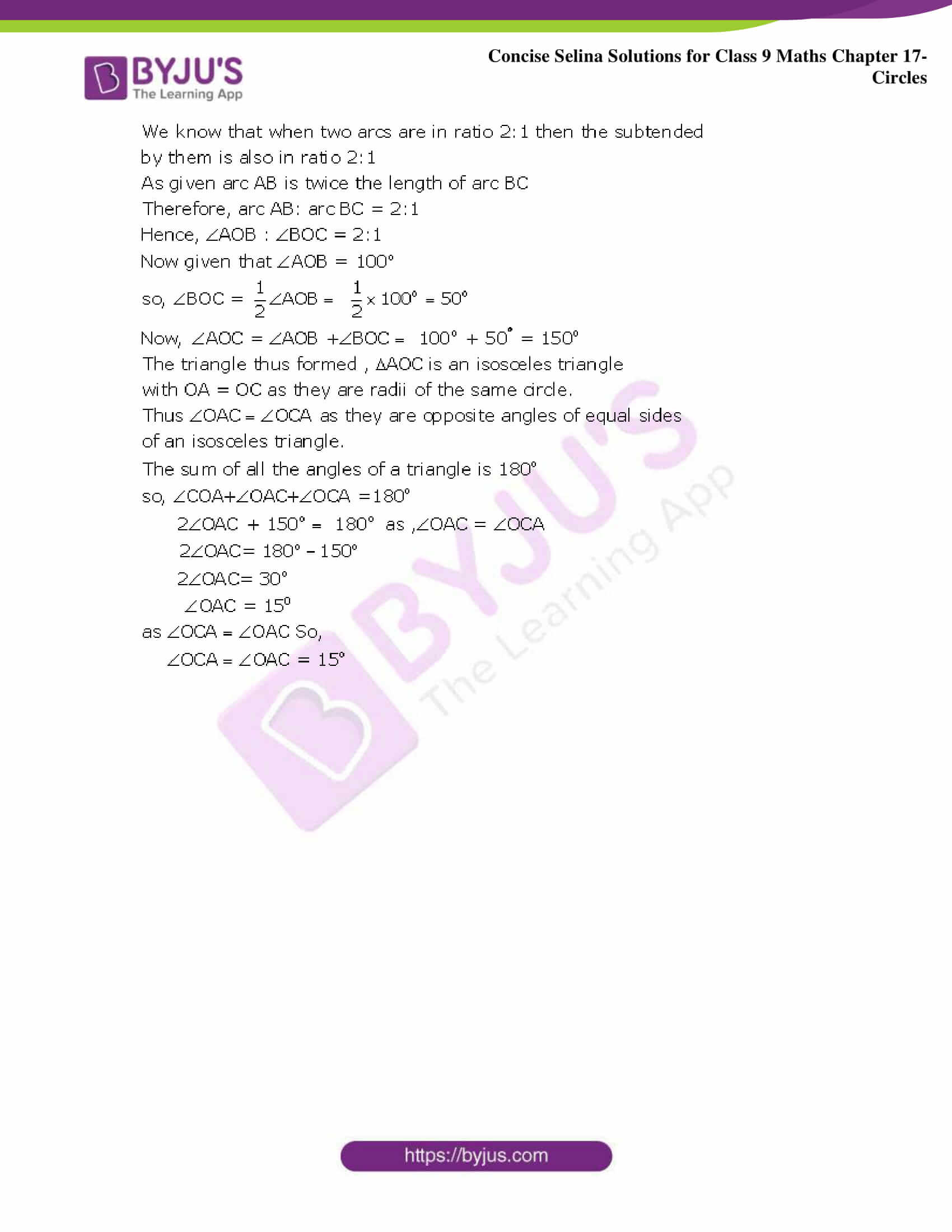 Concise Selina Solutions Class 9 Maths Chapter 17 Circles part 28