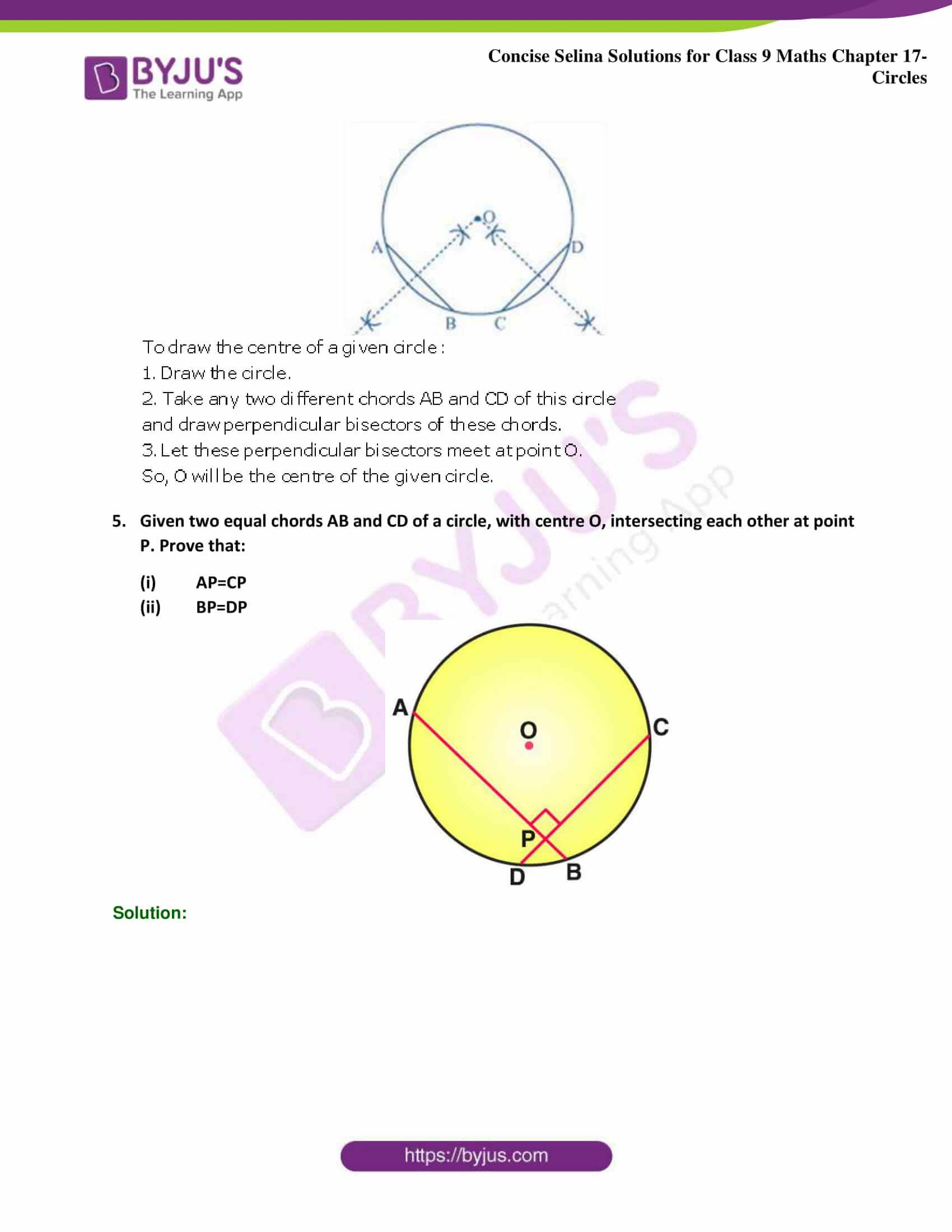Concise Selina Solutions Class 9 Maths Chapter 17 Circles part 31