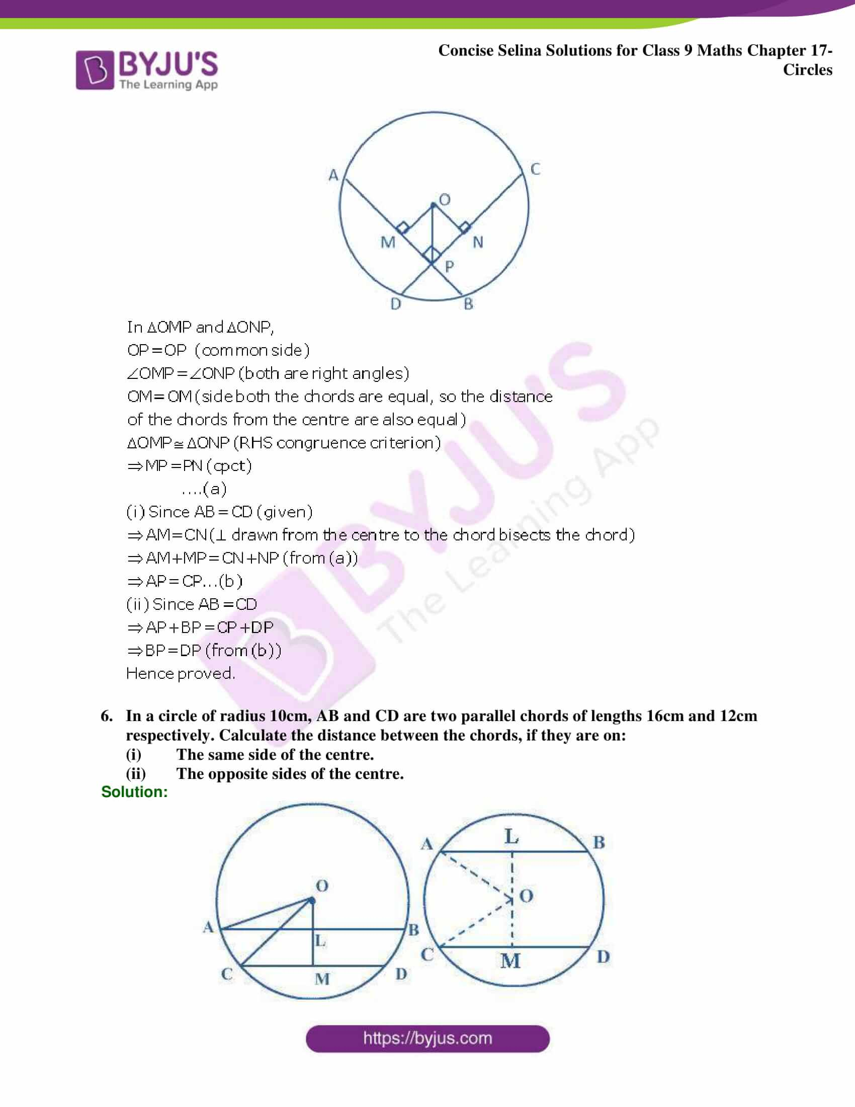 Concise Selina Solutions Class 9 Maths Chapter 17 Circles part 32