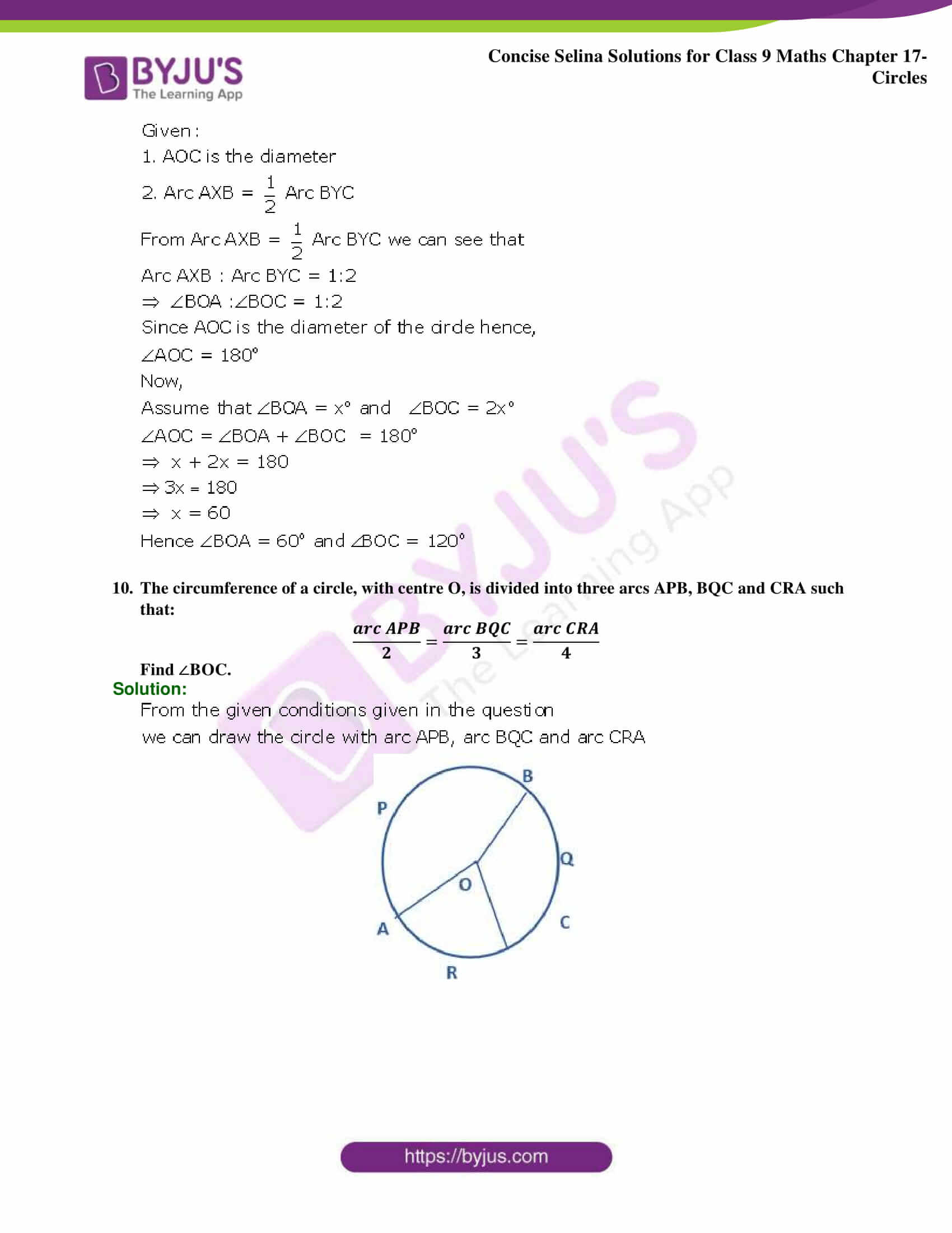 Concise Selina Solutions Class 9 Maths Chapter 17 Circles part 36