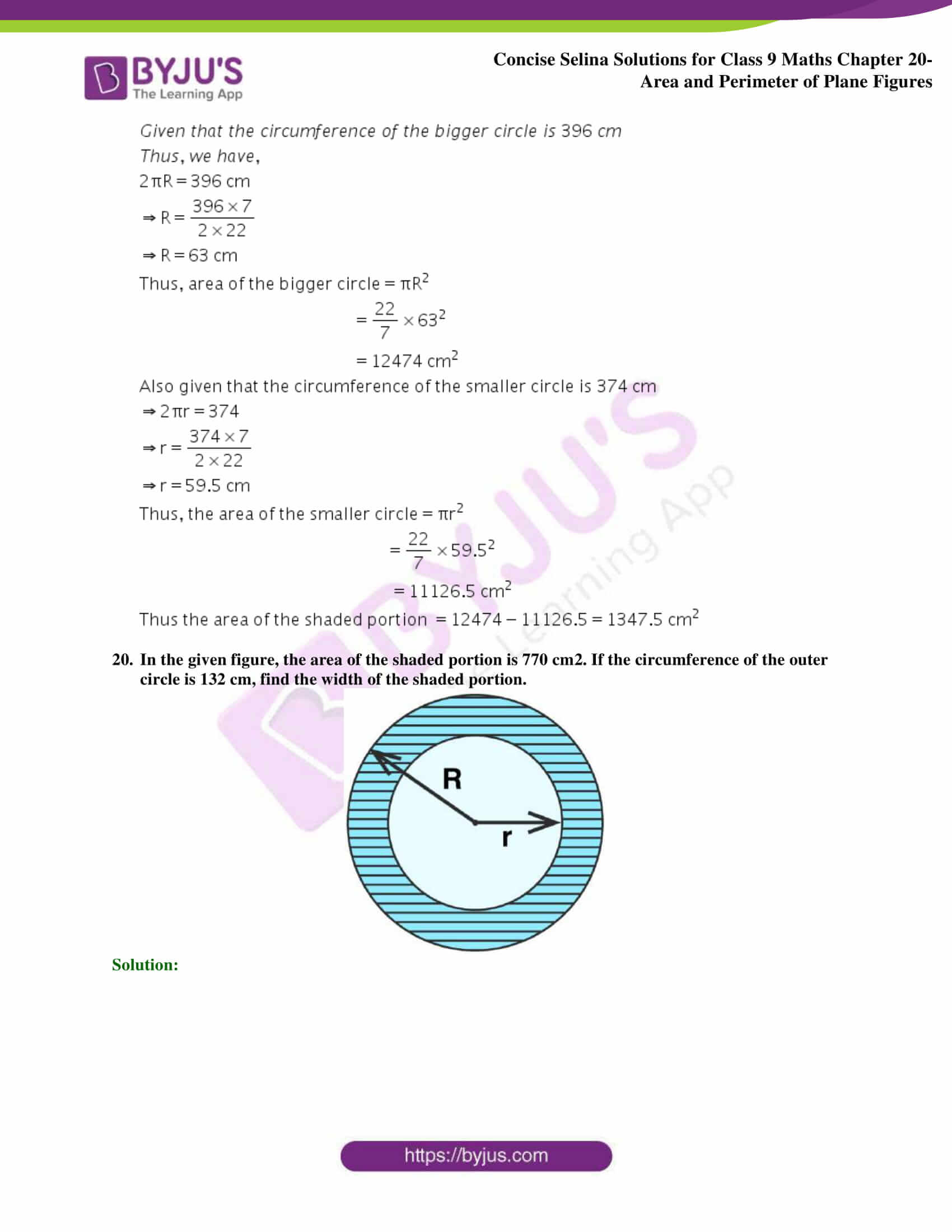 Concise Selina Solutions Class 9 Maths Chapter 20 Area and Perimeter of Plane part 41