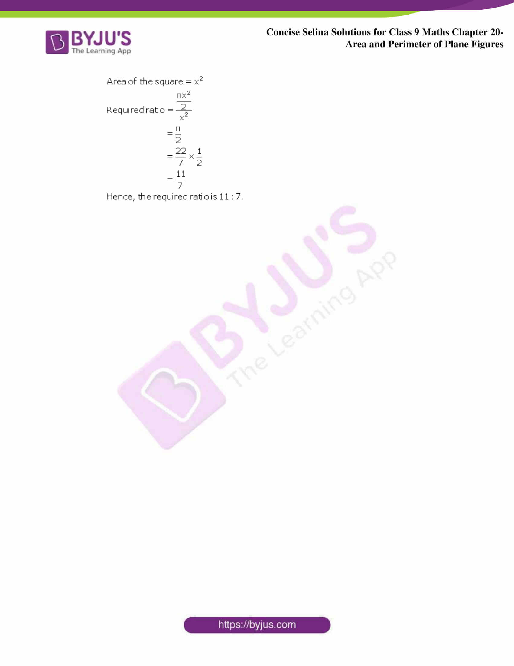 Concise Selina Solutions Class 9 Maths Chapter 20 Area and Perimeter of Plane part 51