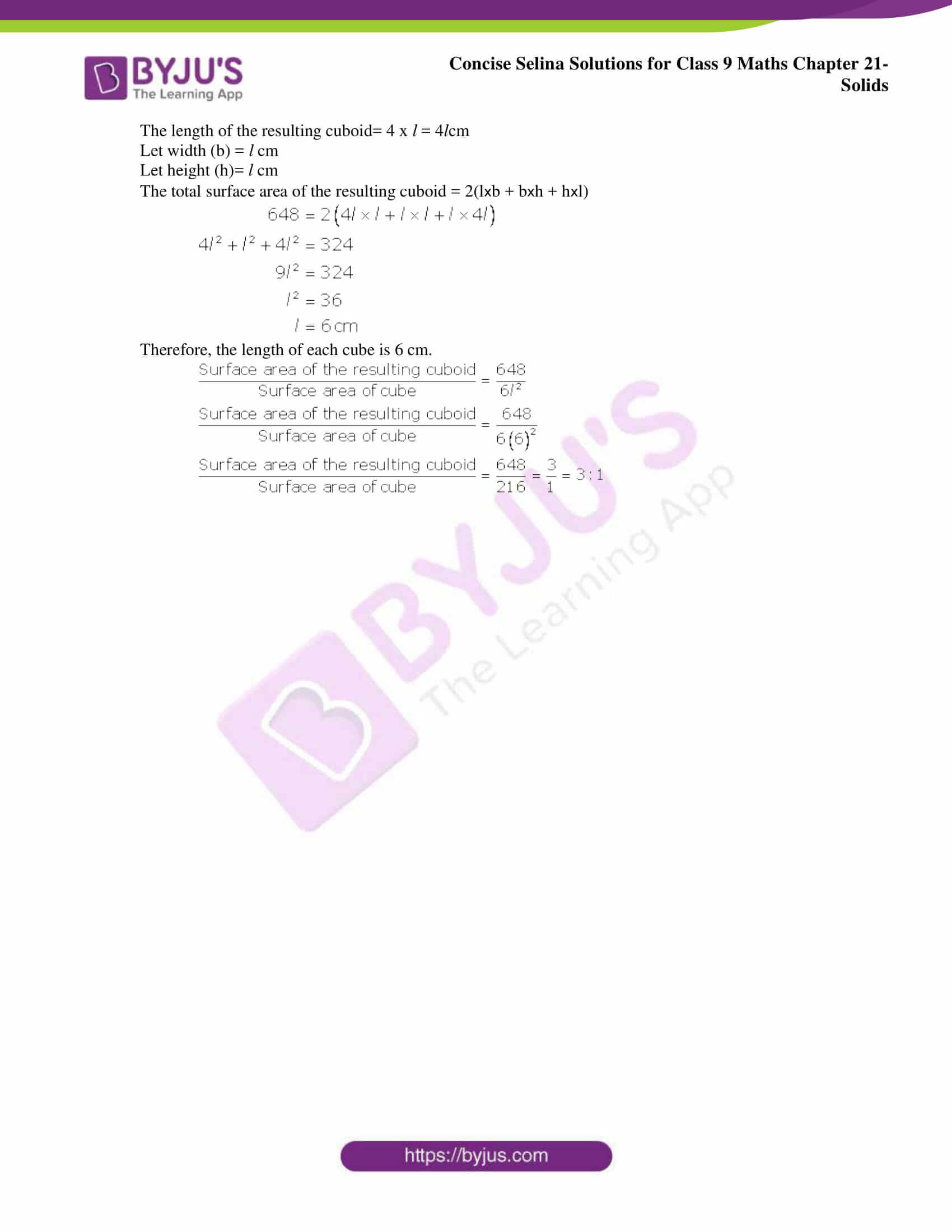 Concise Selina Solutions Class 9 Maths Chapter 21 Solids part 06