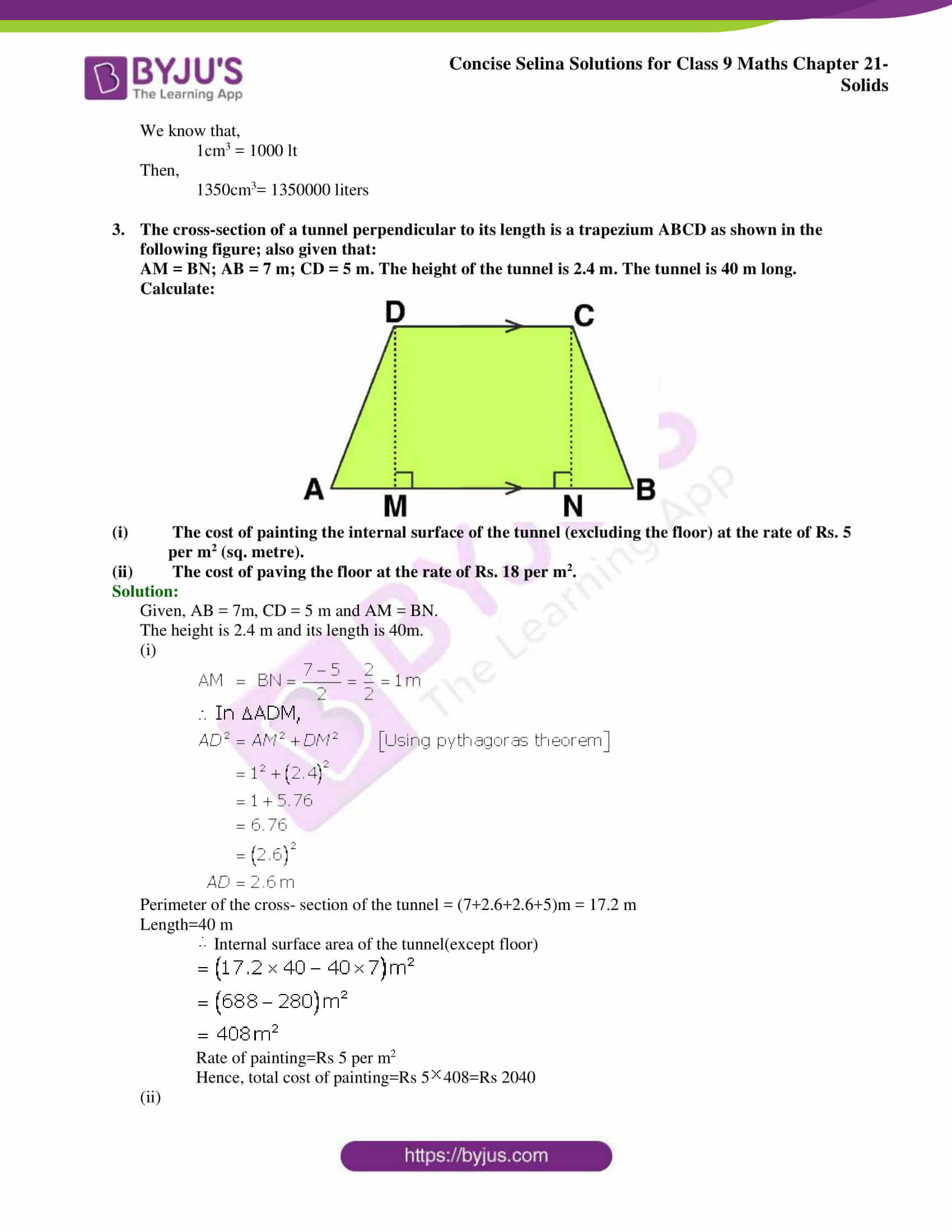 Concise Selina Solutions Class 9 Maths Chapter 21 Solids part 08