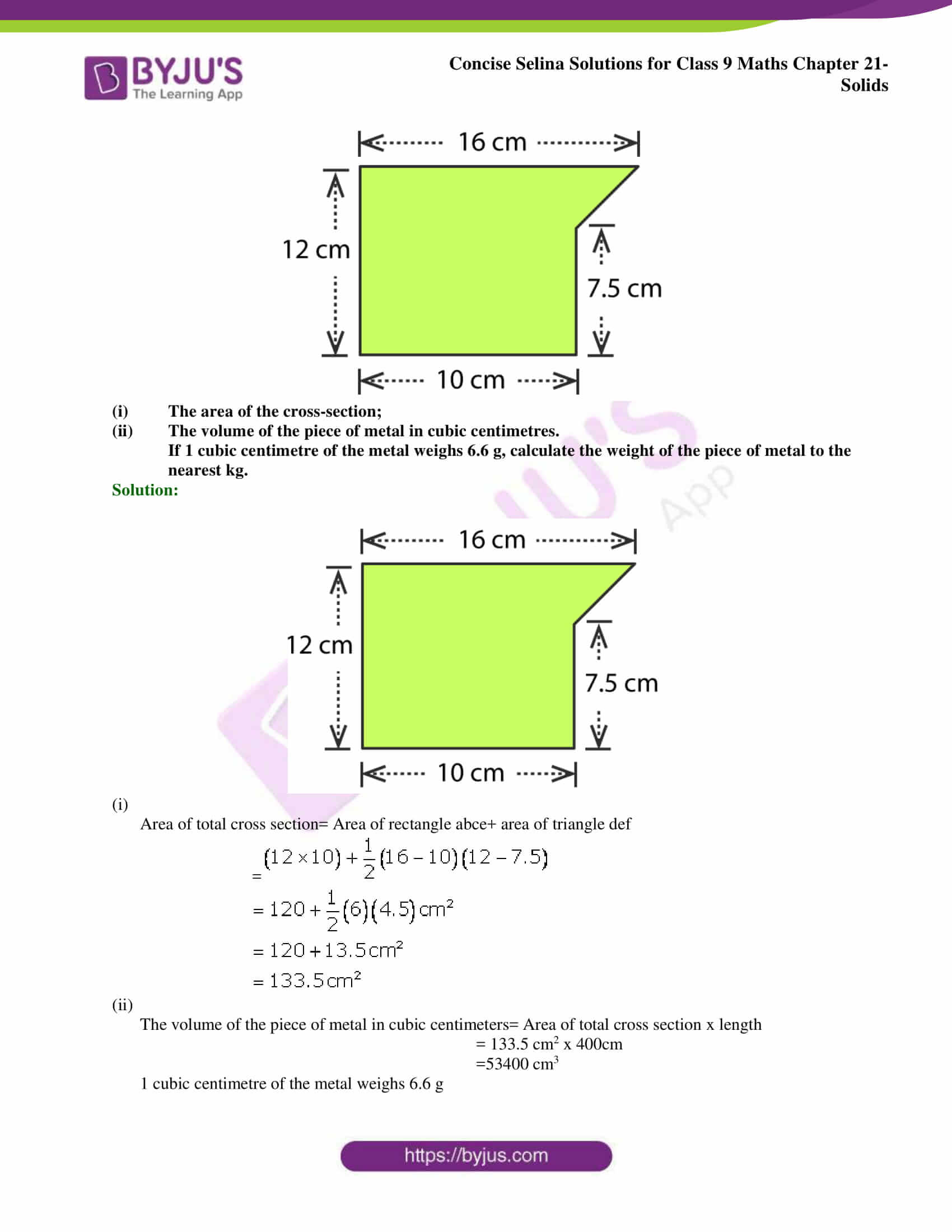 Concise Selina Solutions Class 9 Maths Chapter 21 Solids part 10