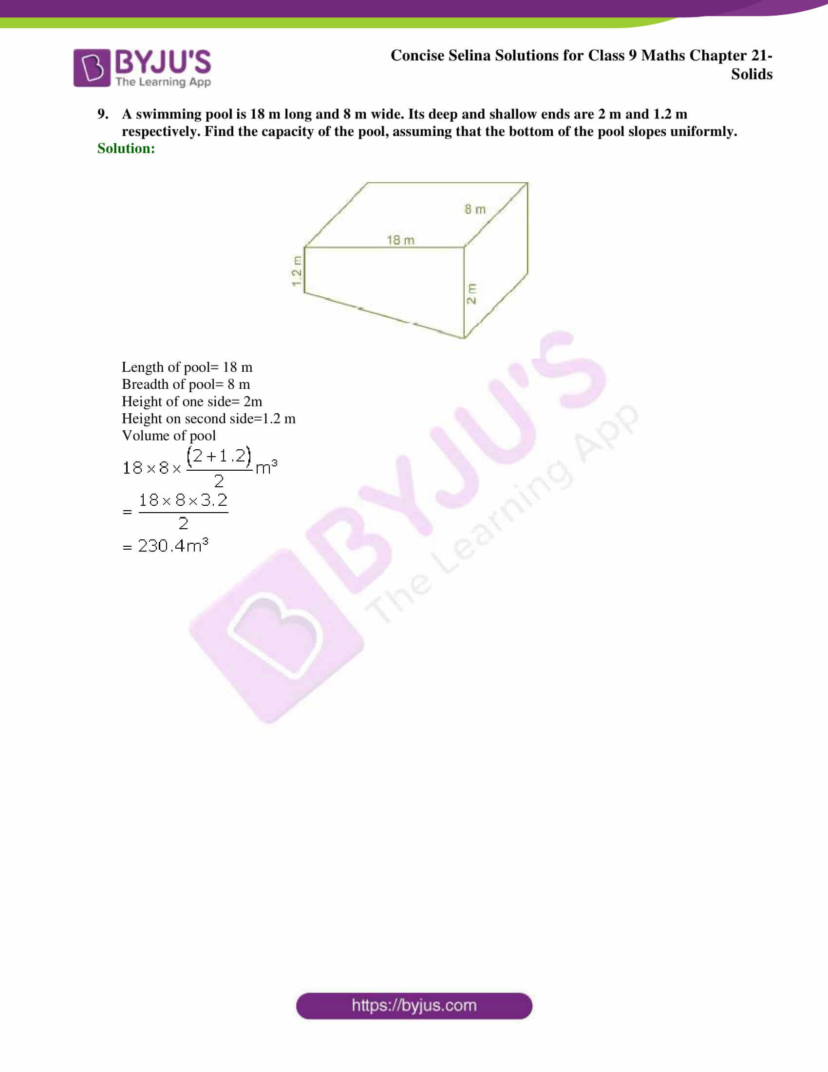 Concise Selina Solutions Class 9 Maths Chapter 21 Solids part 12