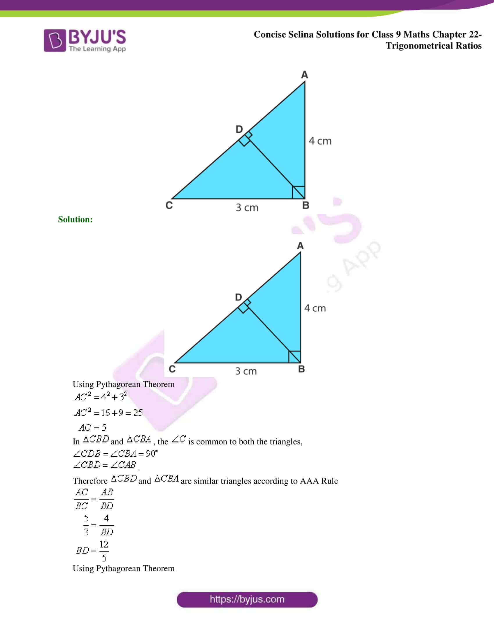 Concise Selina Solutions Class 9 Maths Chapter 22 Trigonometrical Ratios part 26