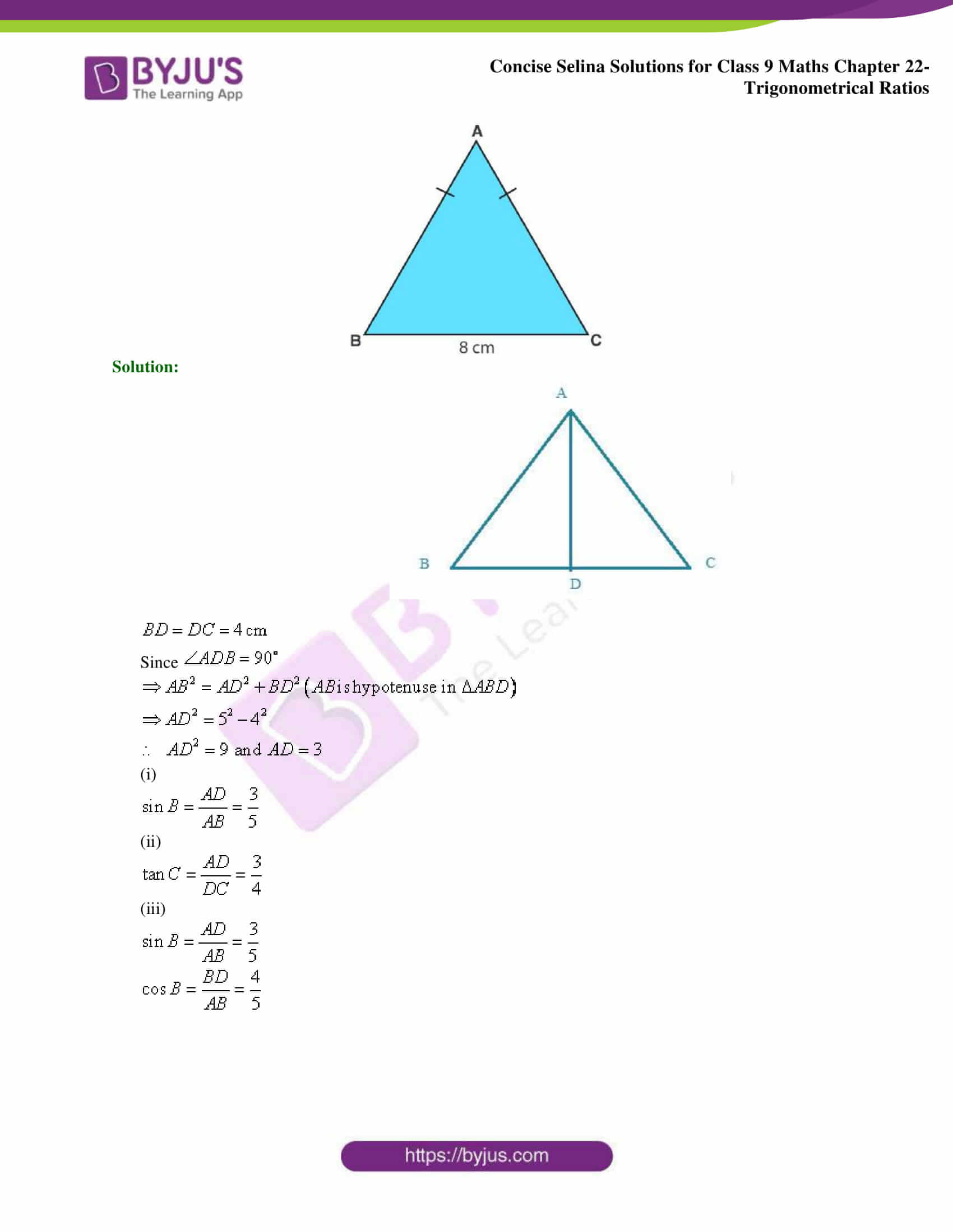 Concise Selina Solutions Class 9 Maths Chapter 22 Trigonometrical Ratios part 28