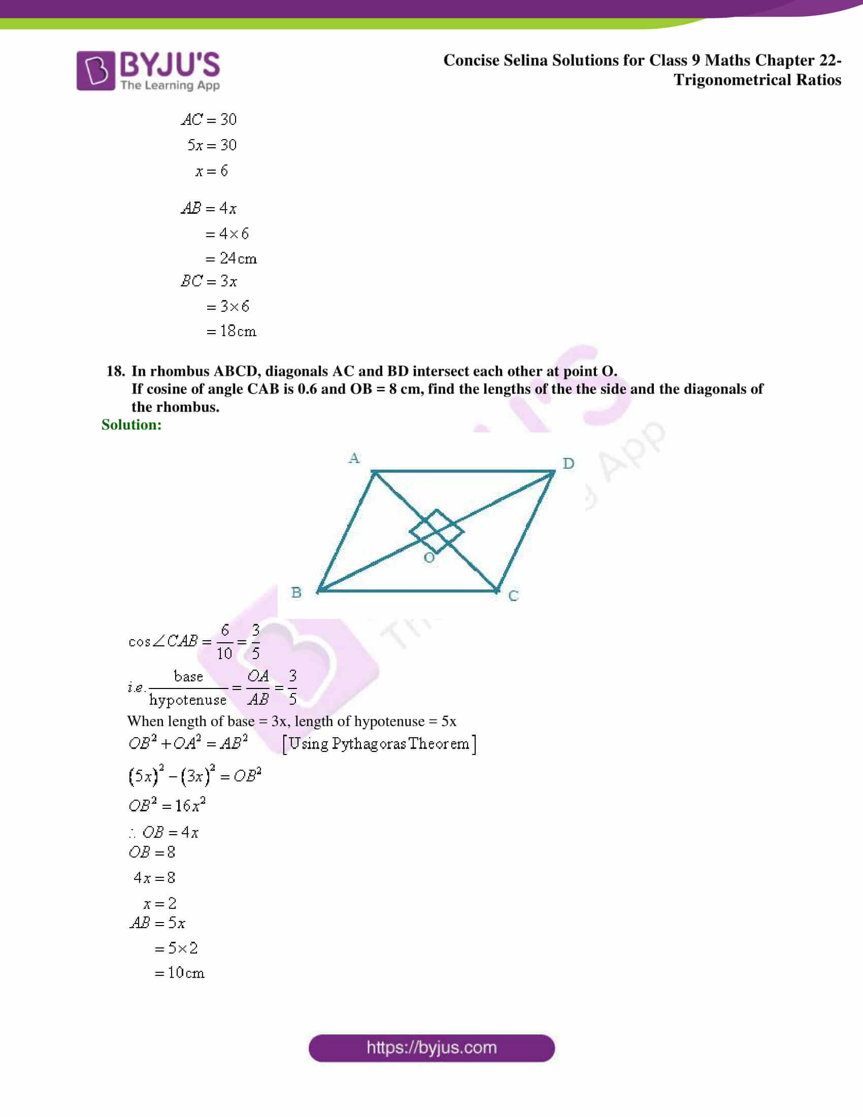 Concise Selina Solutions Class 9 Maths Chapter 22 Trigonometrical Ratios part 39