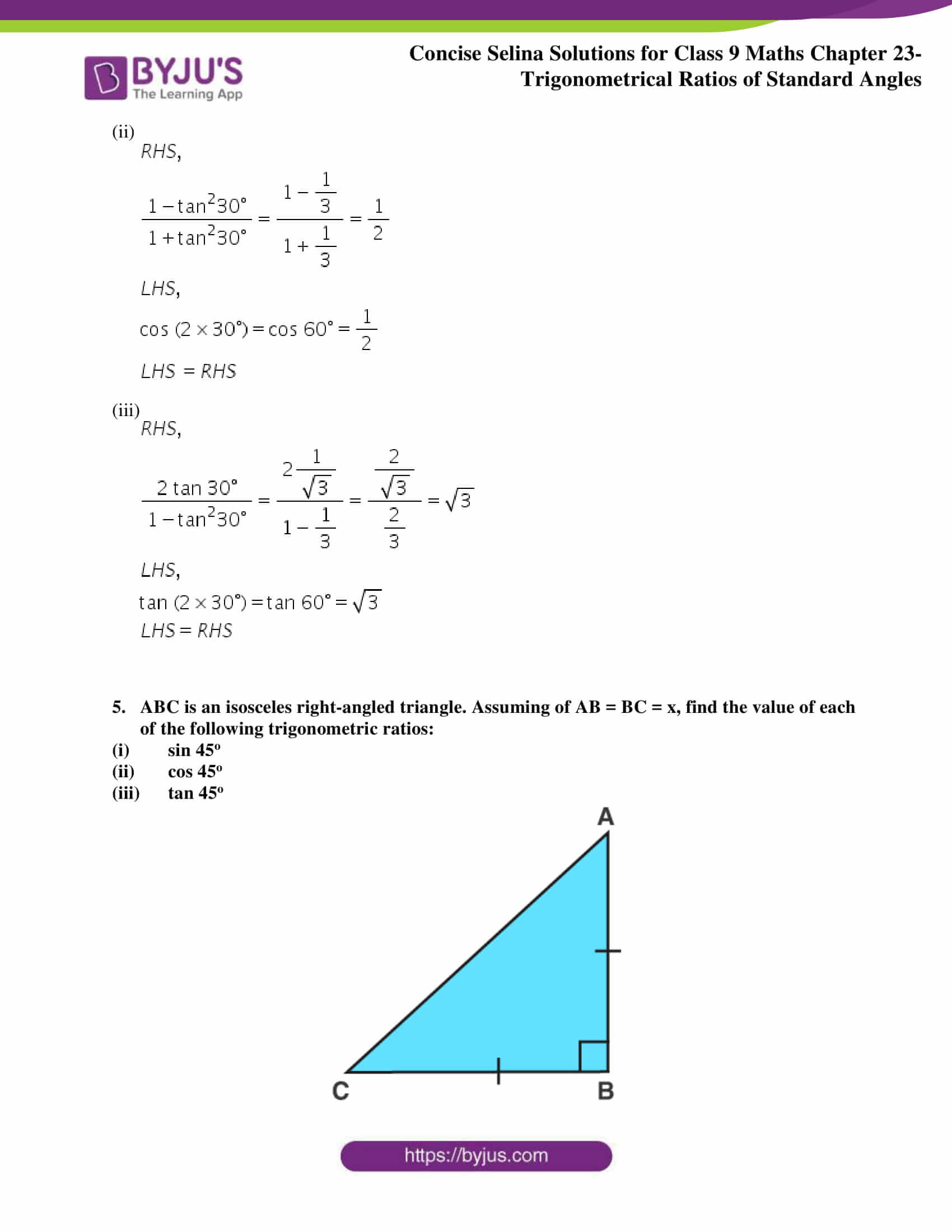 Concise Selina Solutions Class 9 Maths Chapter 23 part 04