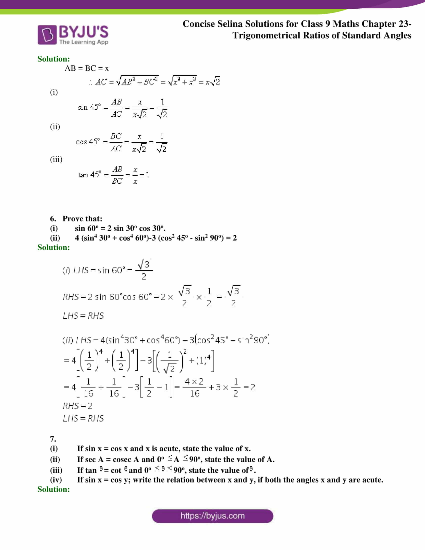 Concise Selina Solutions Class 9 Maths Chapter 23 part 05