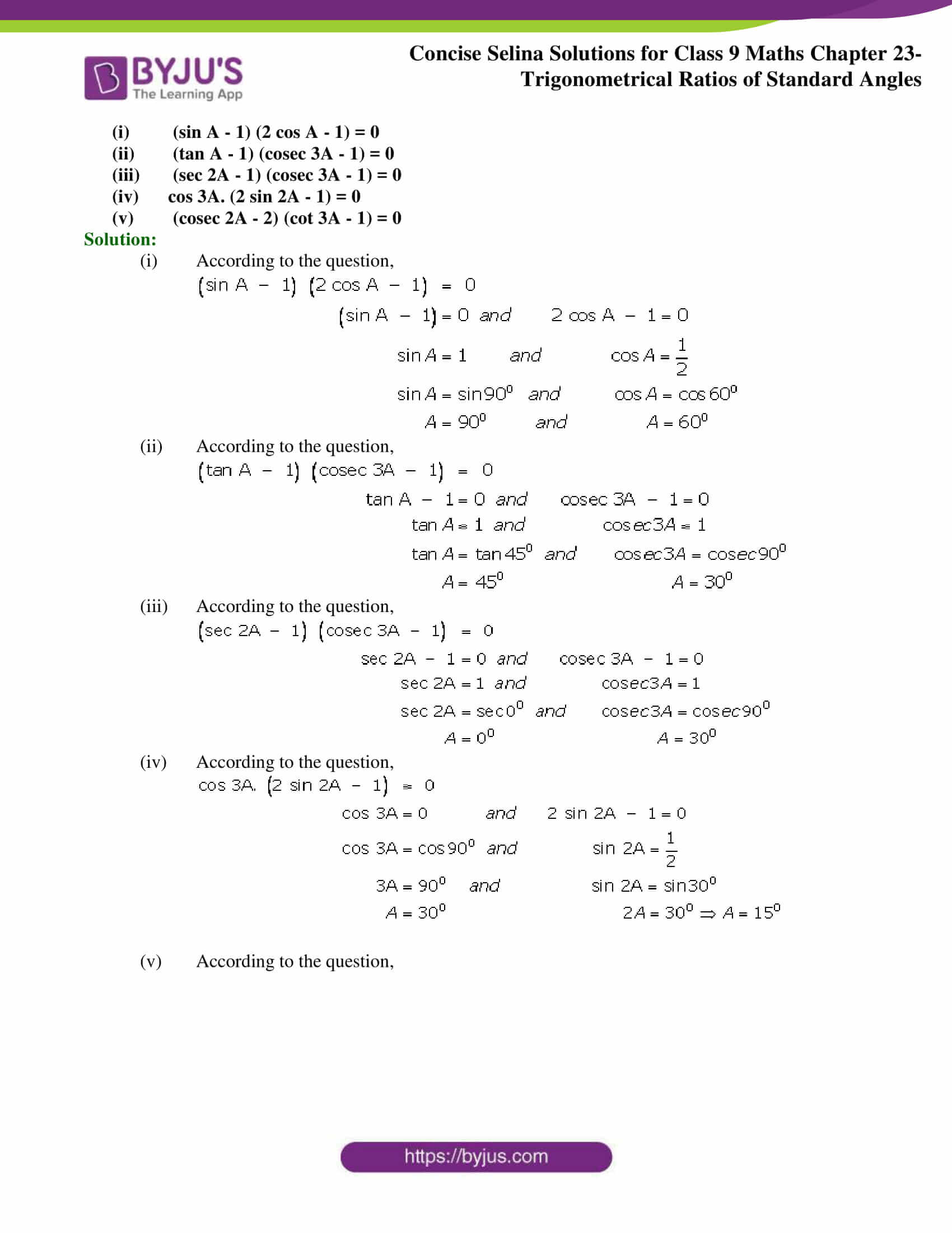 Concise Selina Solutions Class 9 Maths Chapter 23 part 21