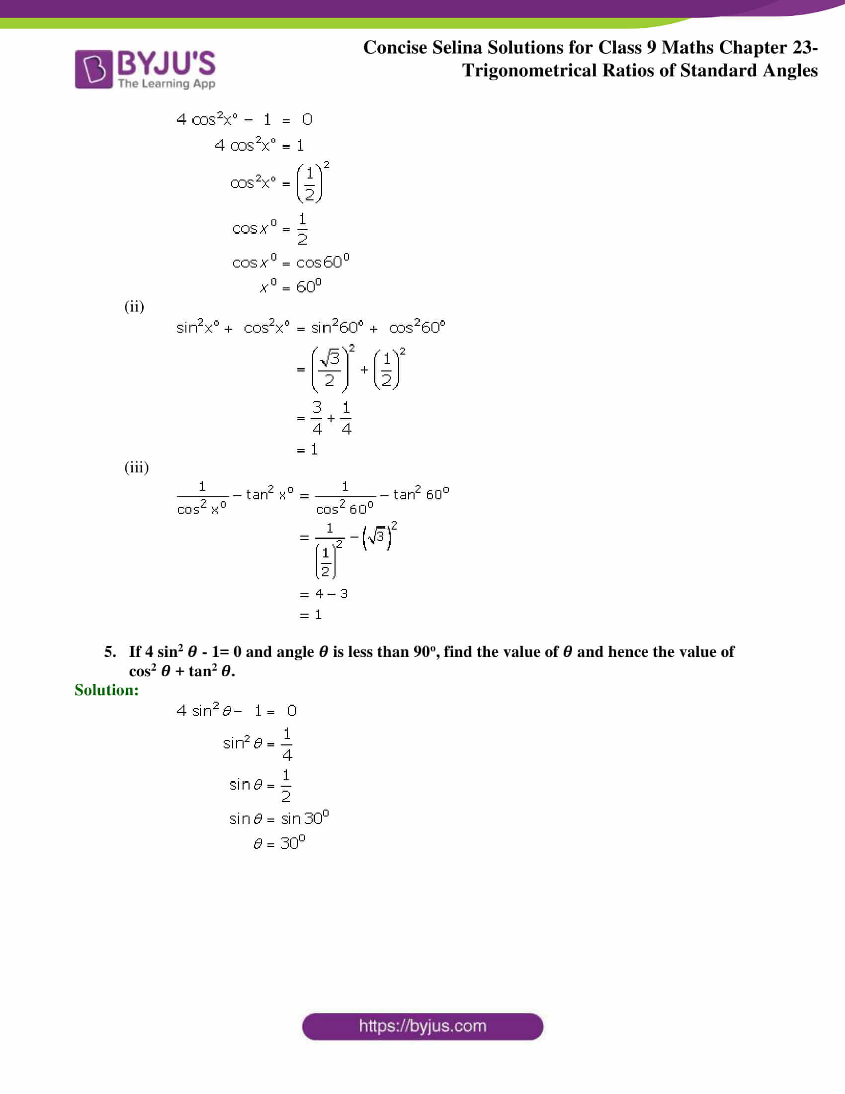 Concise Selina Solutions Class 9 Maths Chapter 23 part 23