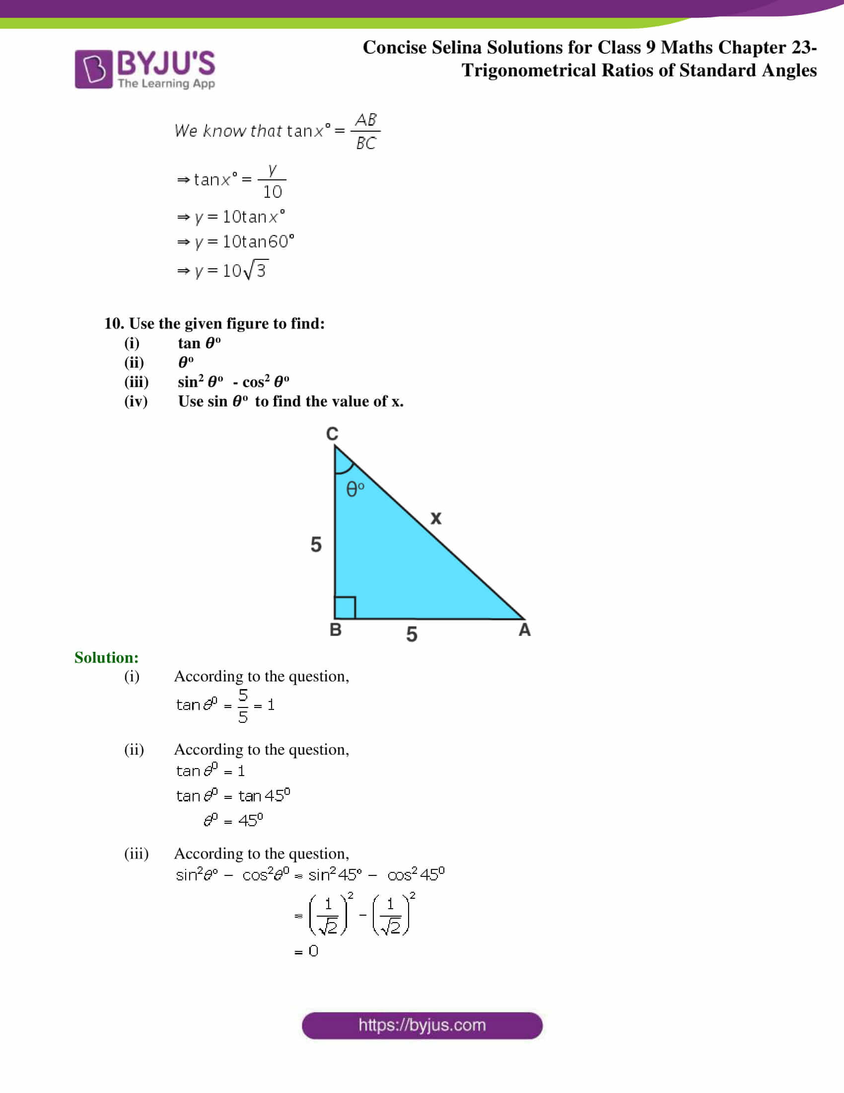 Concise Selina Solutions Class 9 Maths Chapter 23 part 28