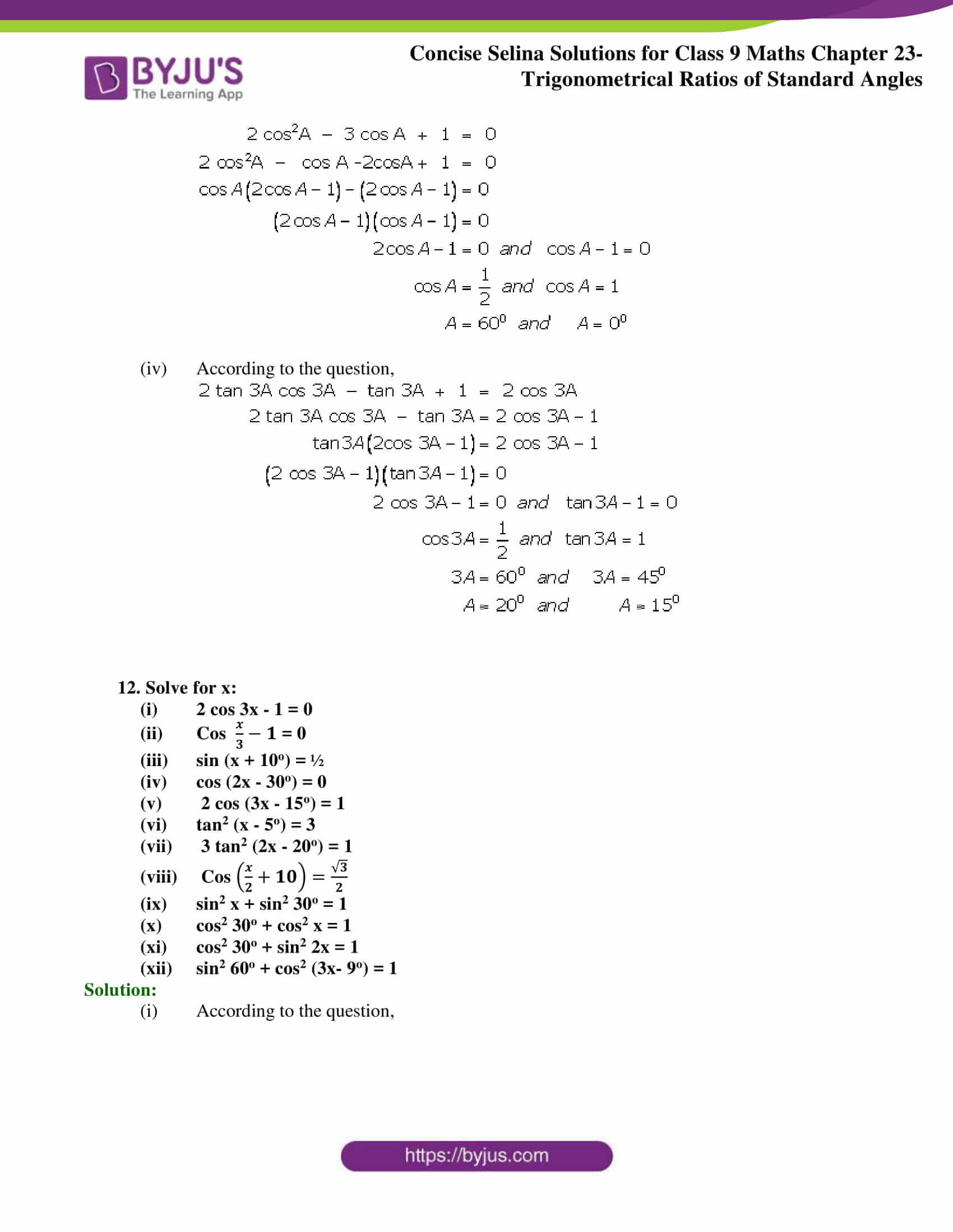 Concise Selina Solutions Class 9 Maths Chapter 23 part 30