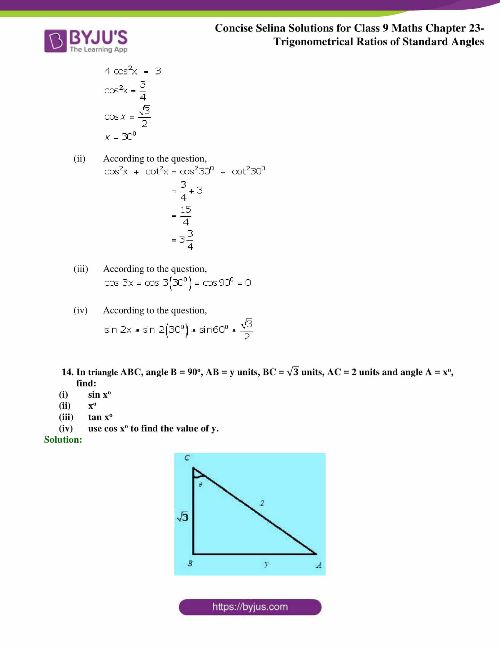 Concise Selina Solutions Class 9 Maths Chapter 23 part 34