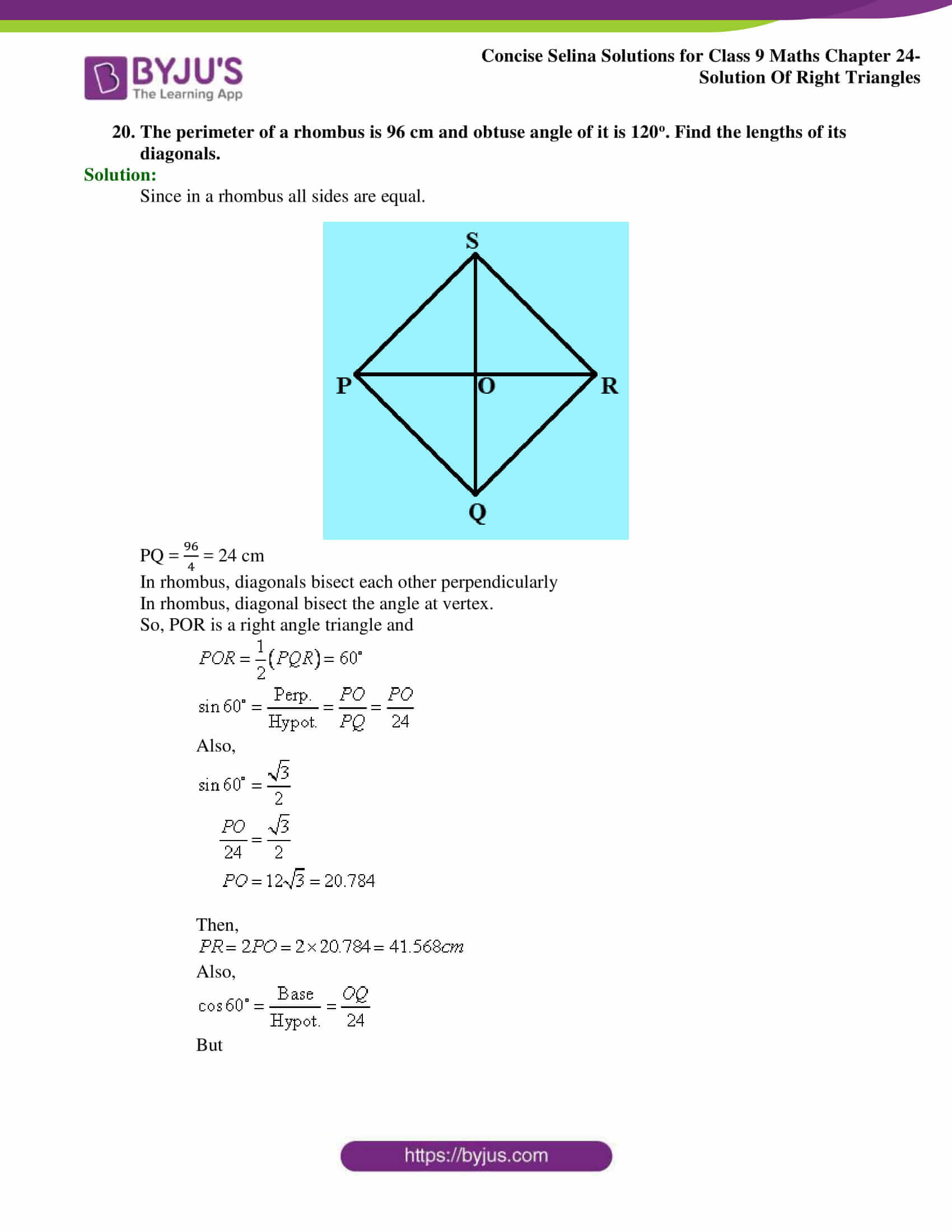 Concise Selina Solutions Class 9 Maths Chapter 24 Solution Of Right Triangles part 23