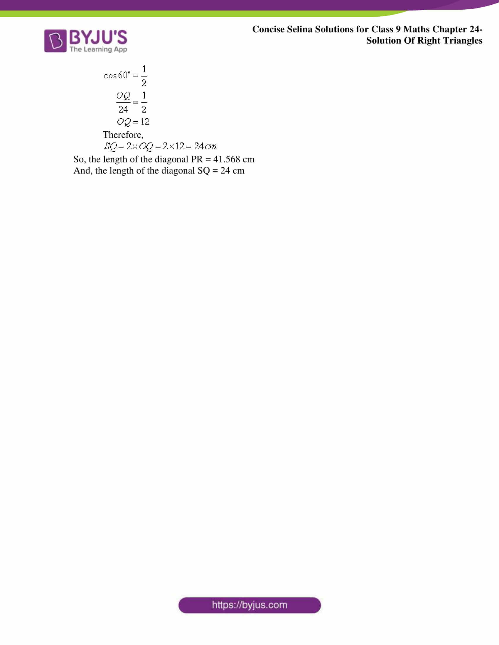 Concise Selina Solutions Class 9 Maths Chapter 24 Solution Of Right Triangles part 24