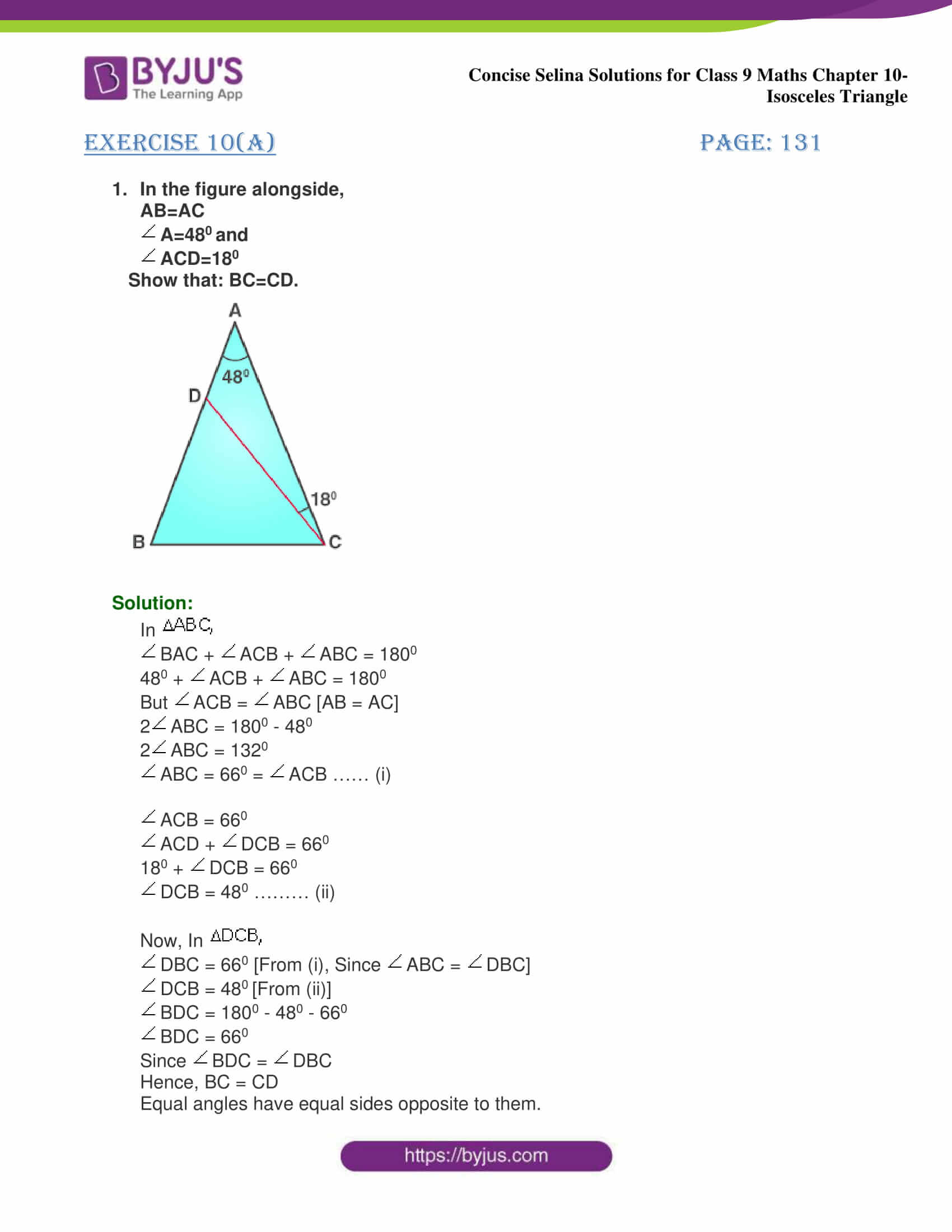 selina Solutions for Class 9 Maths Chapter 10 part 01