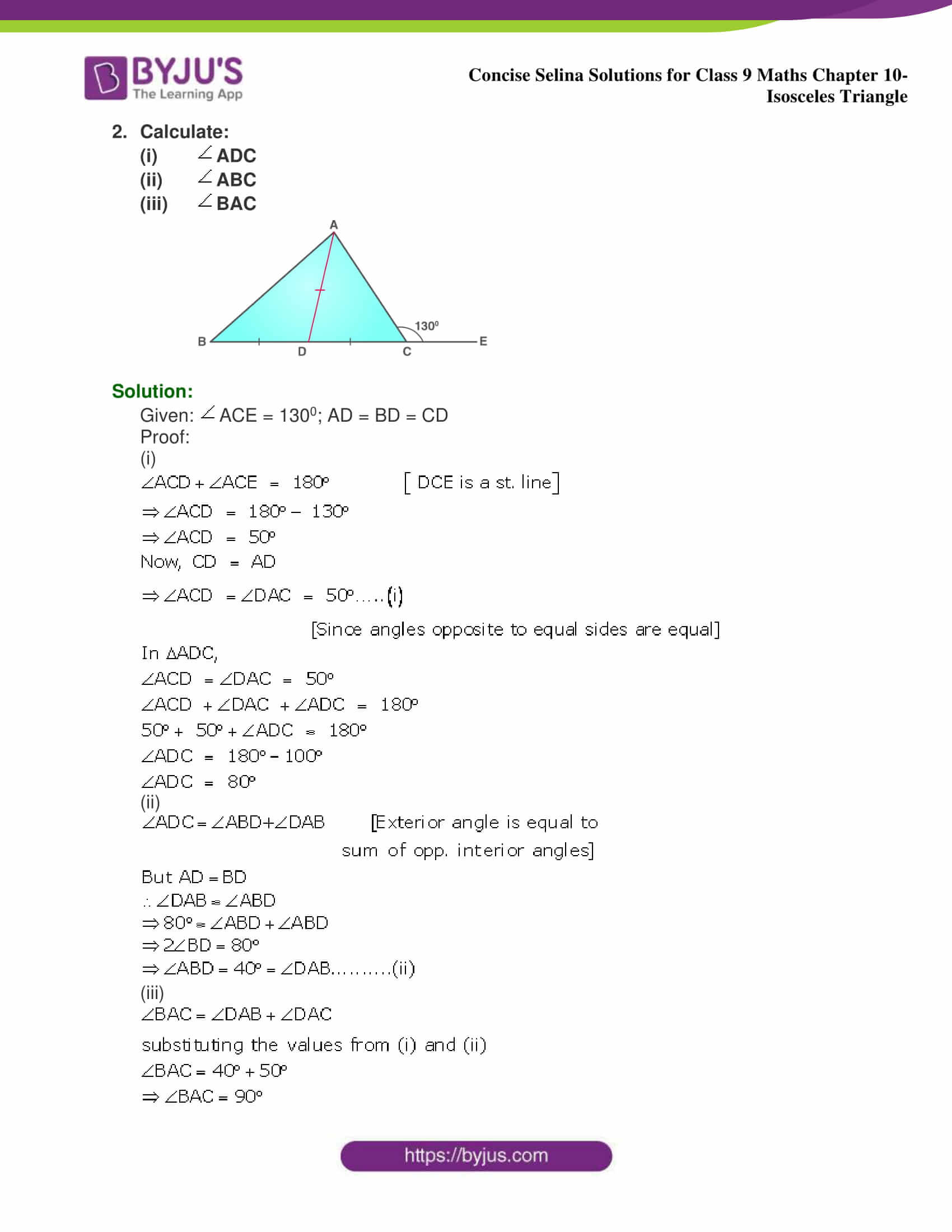 selina Solutions for Class 9 Maths Chapter 10 part 02