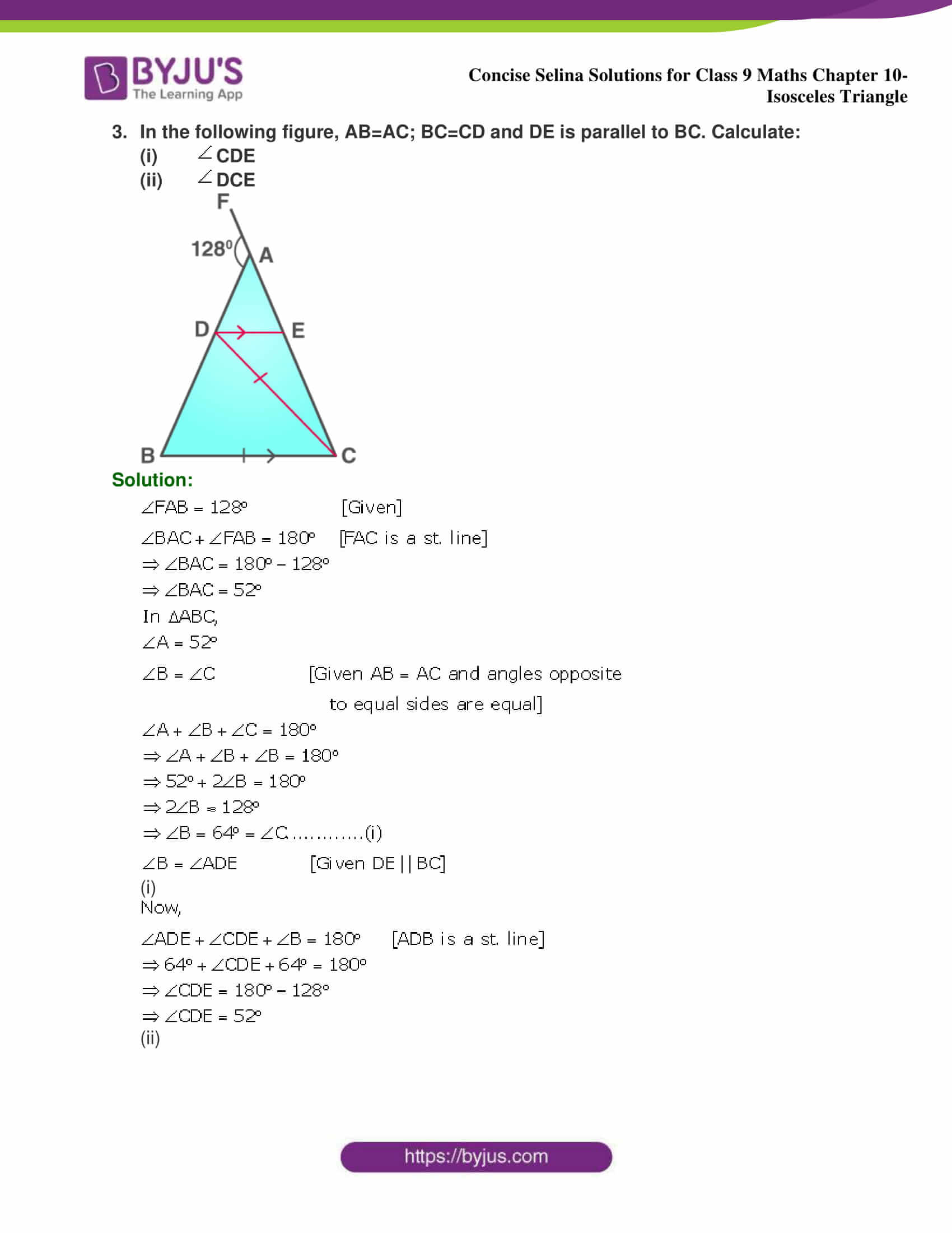 selina Solutions for Class 9 Maths Chapter 10 part 03