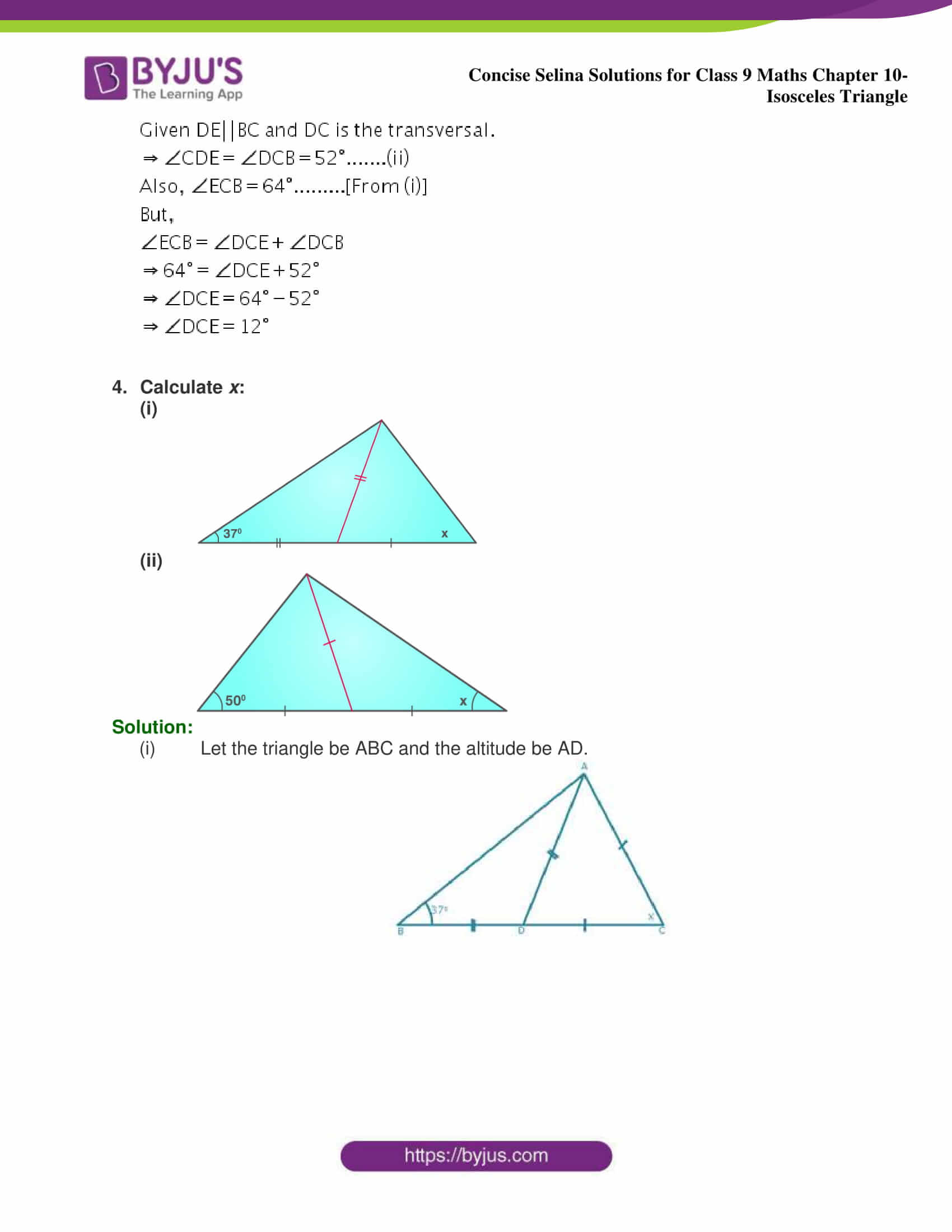 selina Solutions for Class 9 Maths Chapter 10 part 04