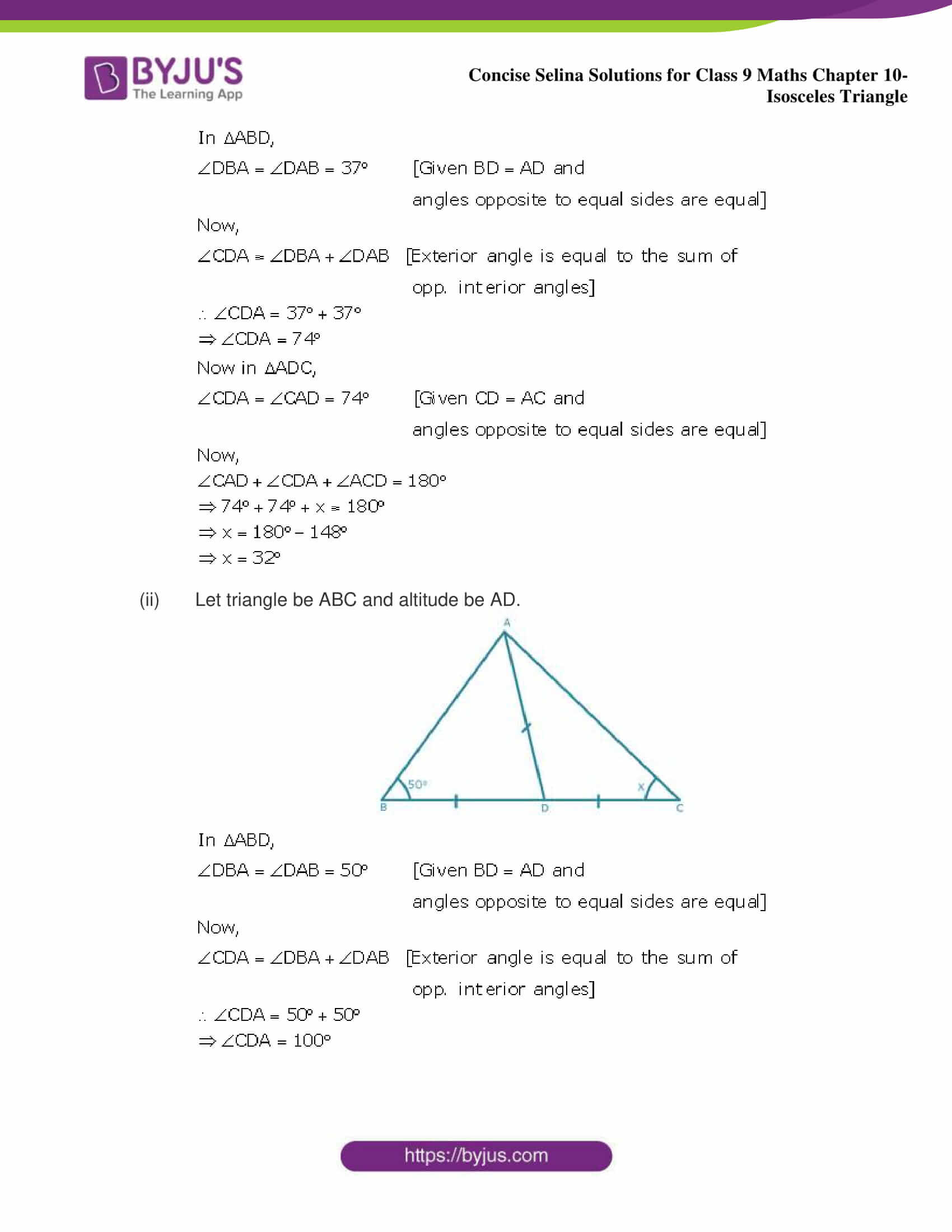 selina Solutions for Class 9 Maths Chapter 10 part 05